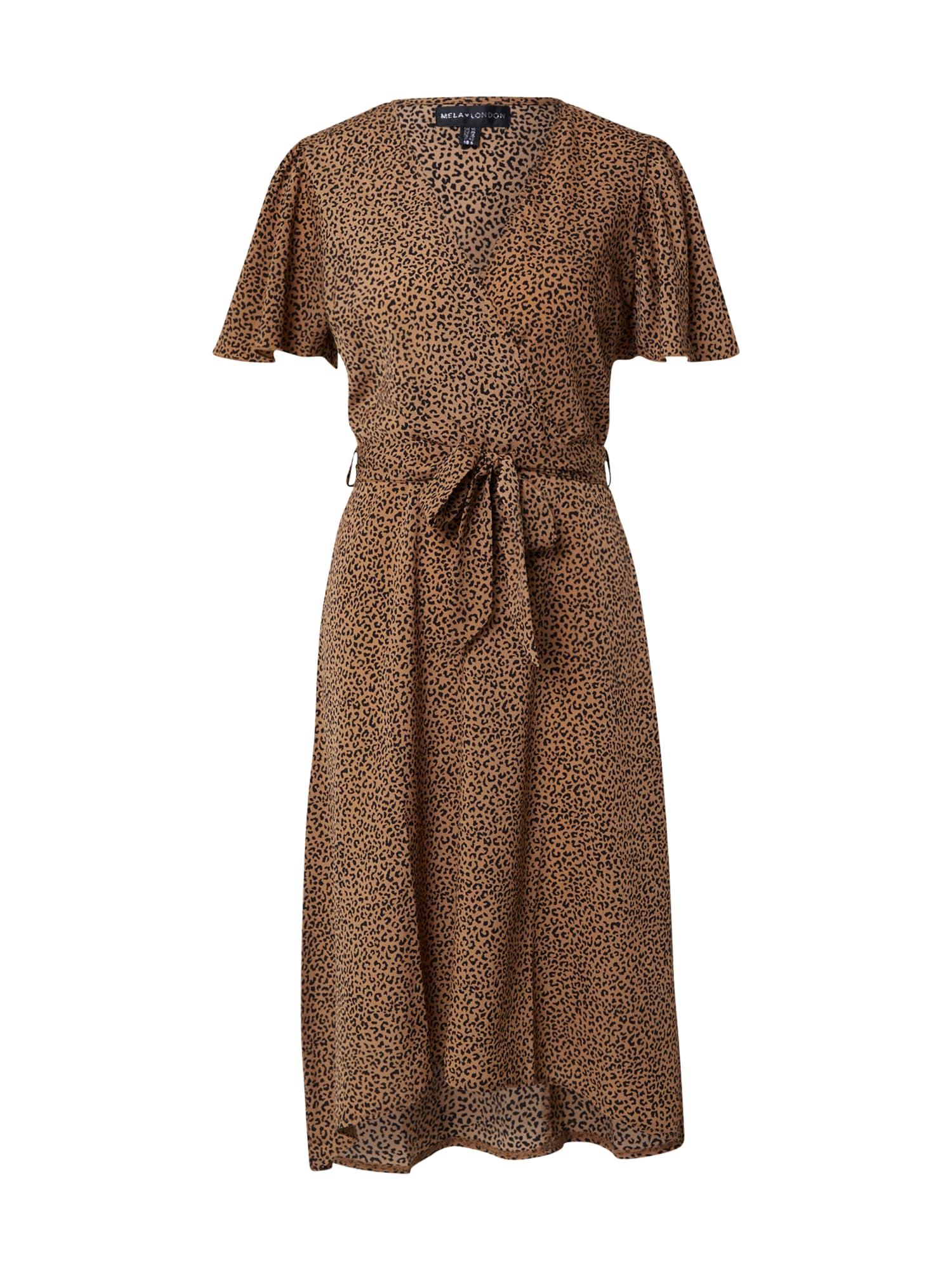 Mela London Suknelė ruda / juoda