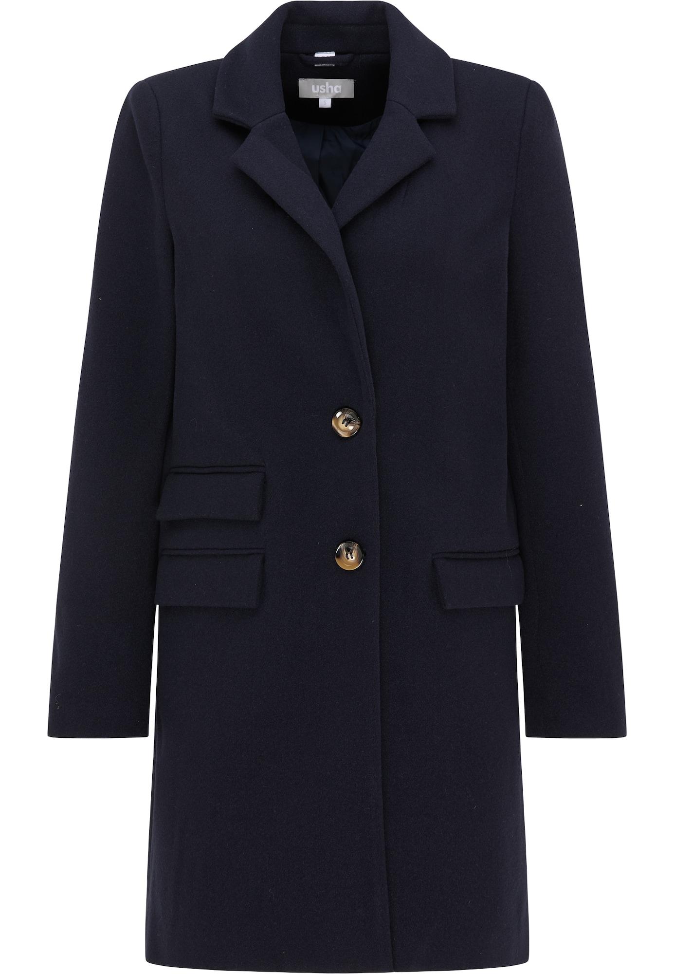 - CONTRAER - Demisezoninis paltas tamsiai mėlyna jūros spalva