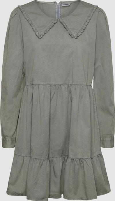 - Kurzes Kleid - Rundhalsausschnitt mit Kragendetail - Lange Ärmel - Knopfverschluss an den Manschetten - Verdeckter Reißverschluss hinten - Relaxed Fit