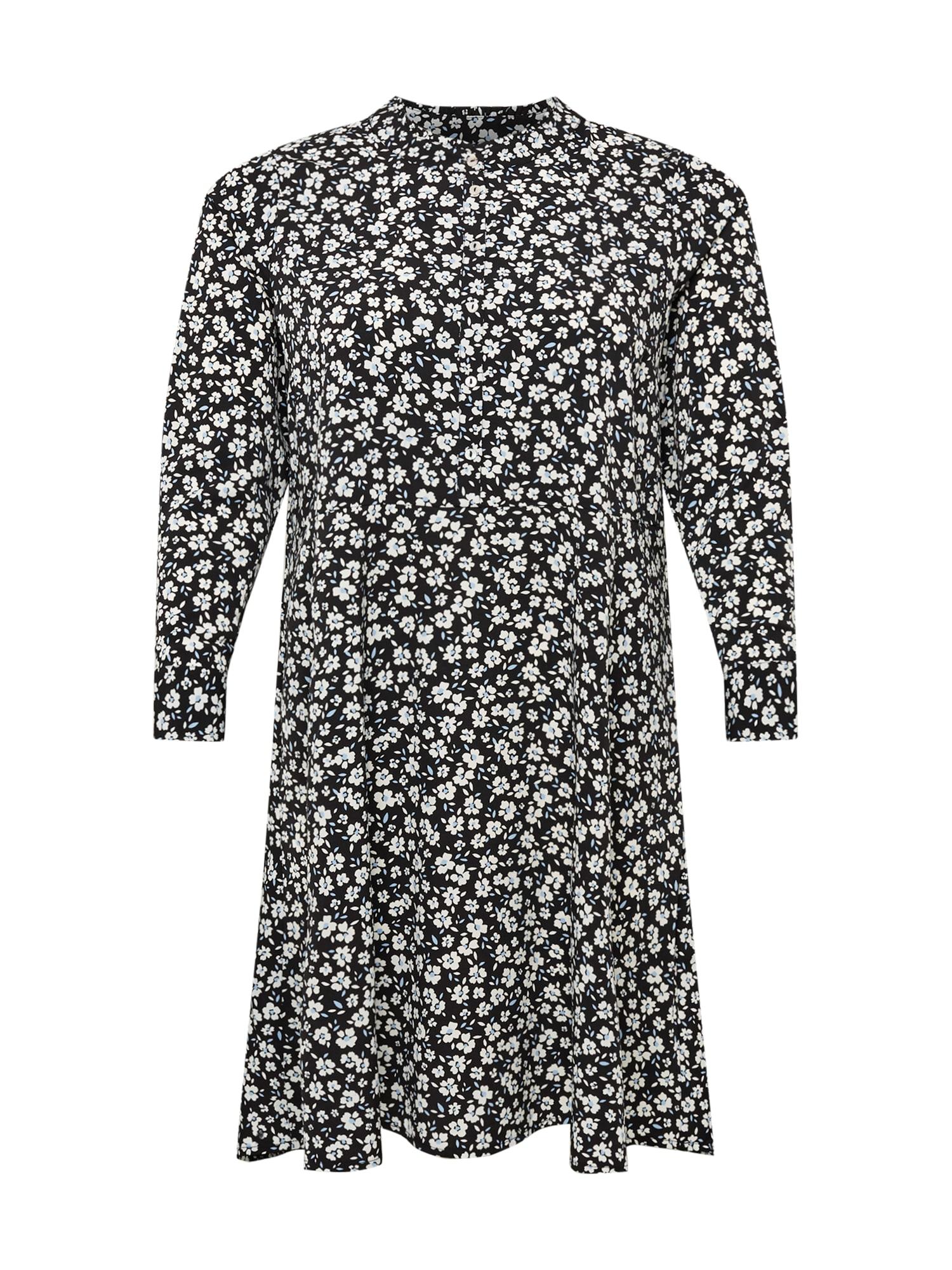 Dorothy Perkins Curve Palaidinės tipo suknelė juoda / balta / šviesiai mėlyna