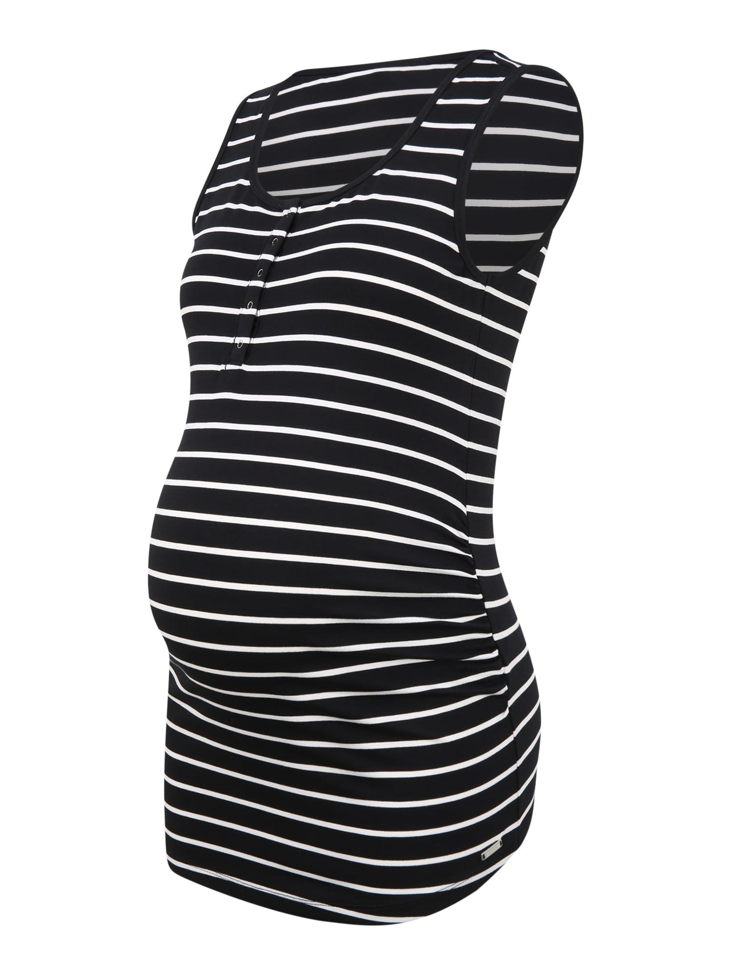 Esprit Maternity Palaidinė be rankovių juoda / balta