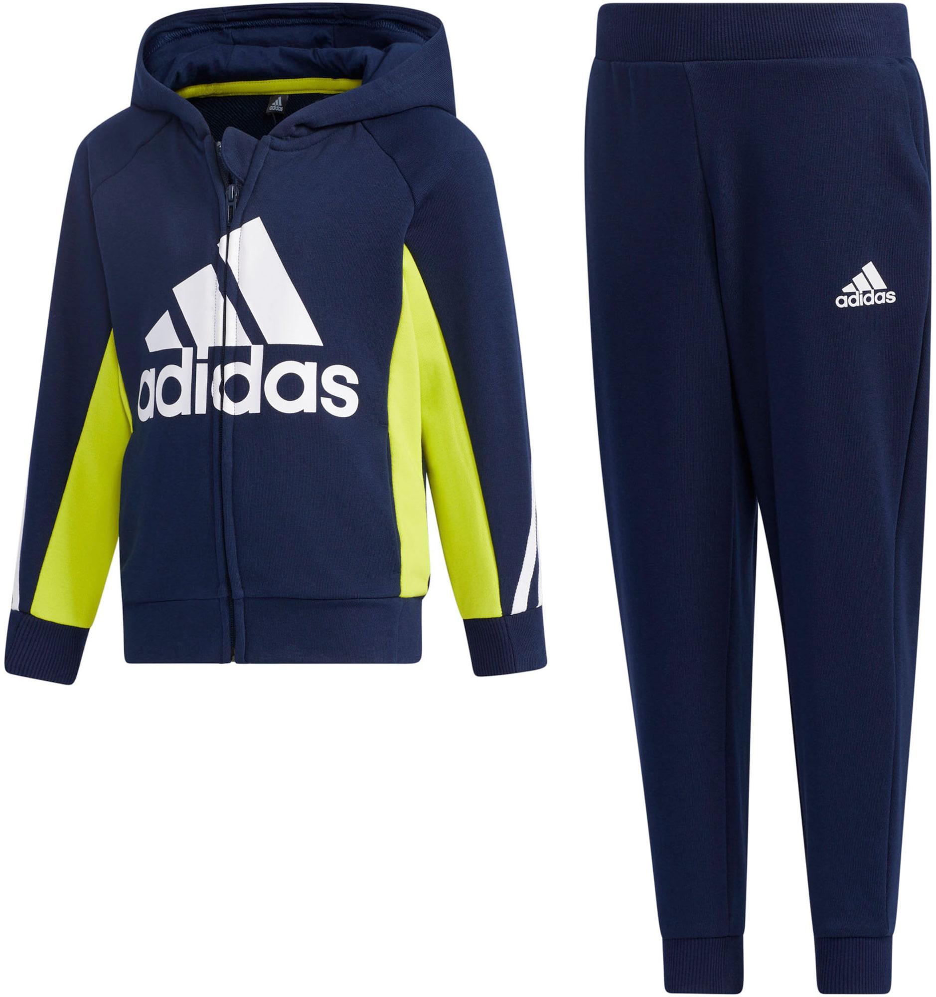 ADIDAS PERFORMANCE Sportinis kostiumas tamsiai mėlyna / geltona / balta