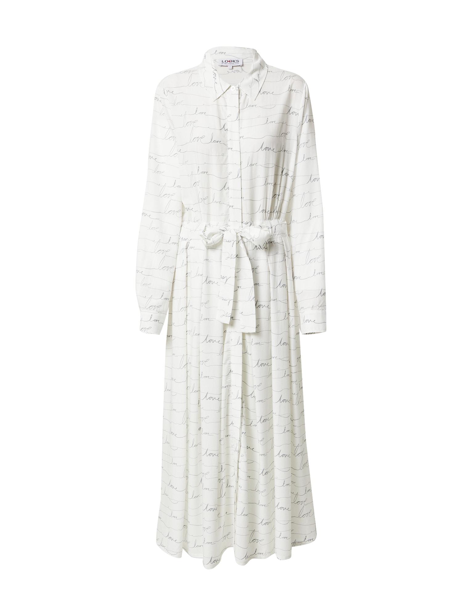 LOOKS by Wolfgang Joop Palaidinės tipo suknelė balta / grafito