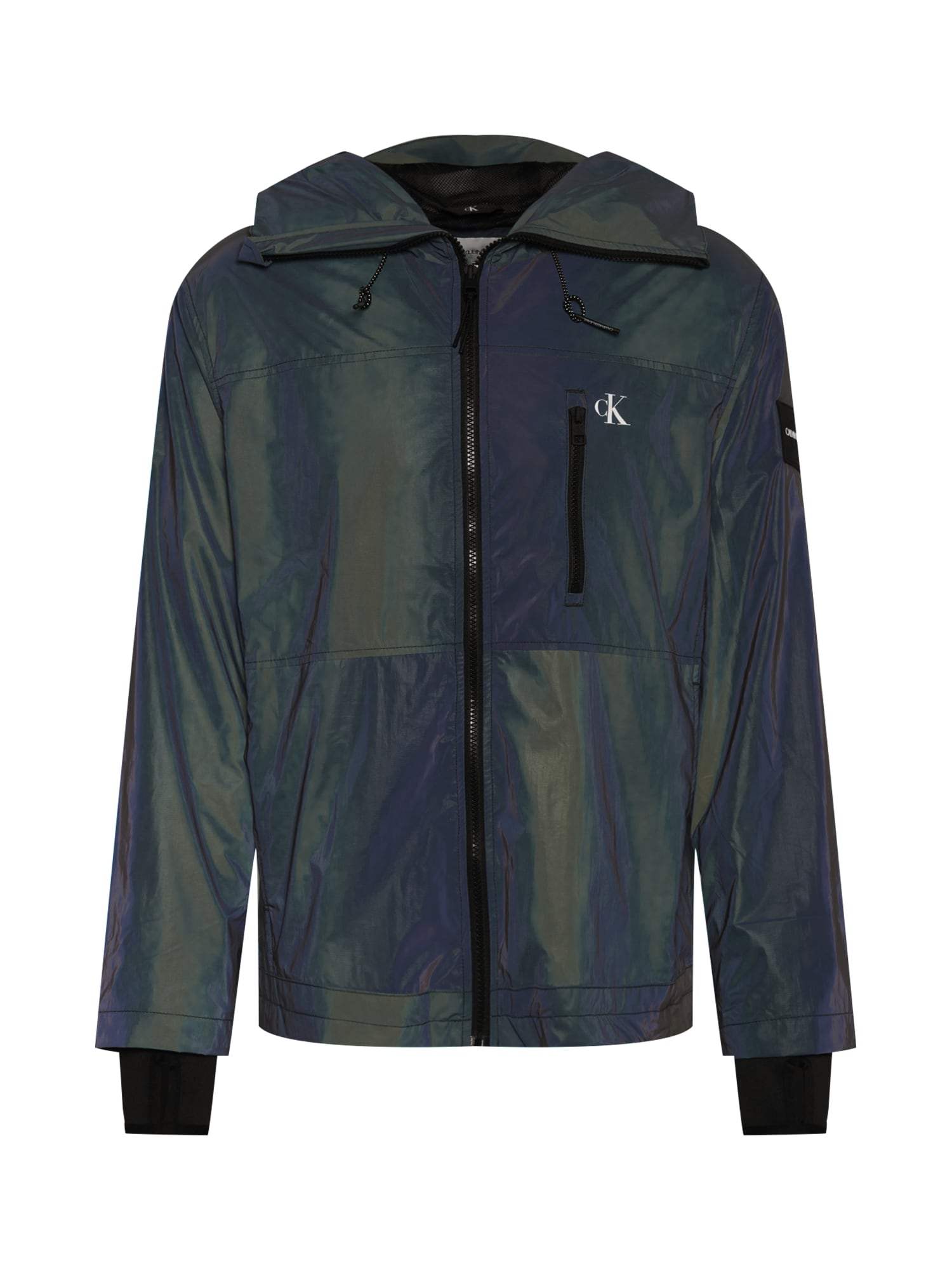 Calvin Klein Jeans Demisezoninė striukė tamsiai žalia