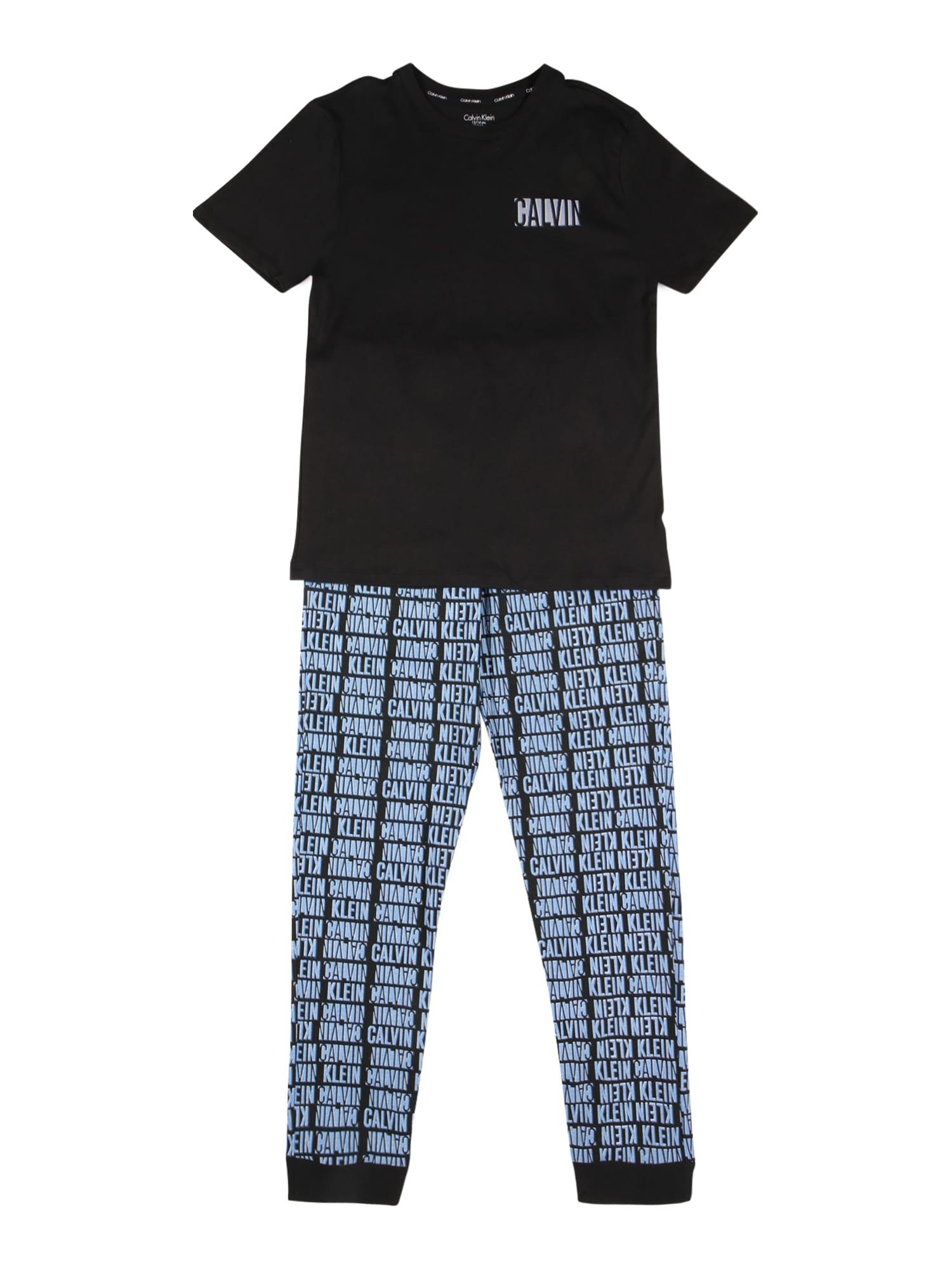 Calvin Klein Underwear Miego kostiumas juoda / šviesiai mėlyna