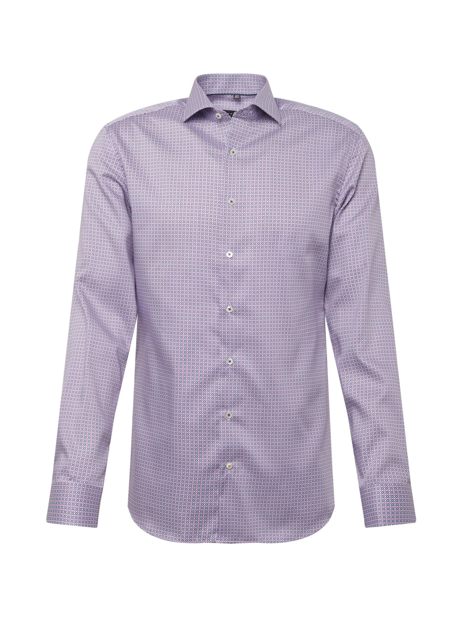 ETERNA Marškiniai balta / tamsiai mėlyna / šviesiai rožinė