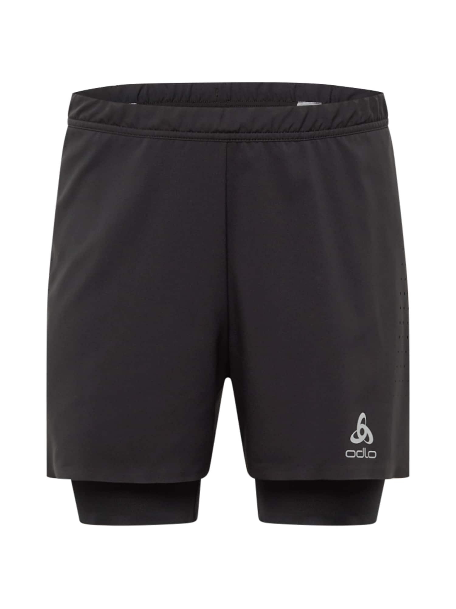 ODLO Sportinės kelnės juoda / sidabro pilka