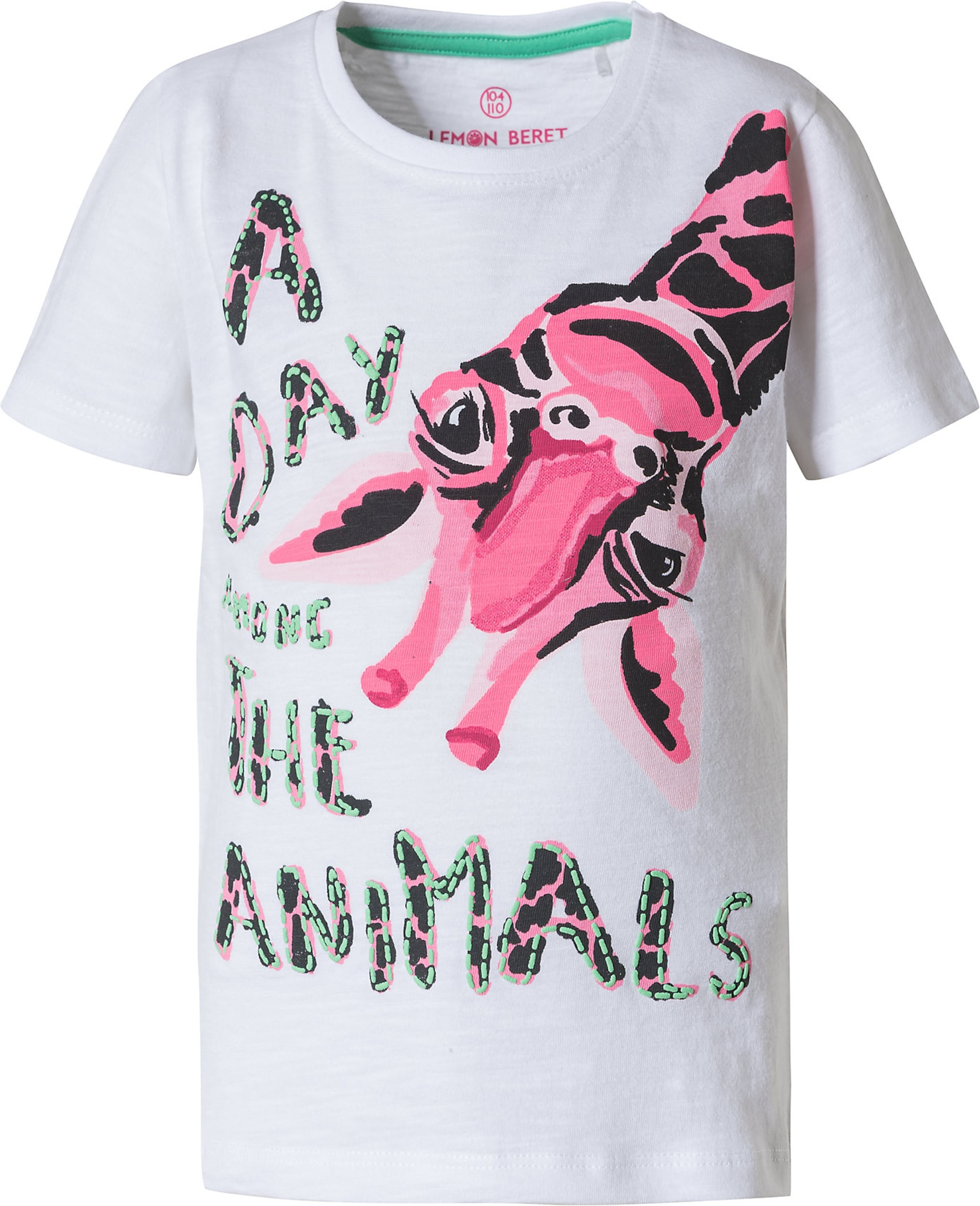 LEMON BERET Marškinėliai balta / rožinė / juoda / mėtų spalva / šviesiai rožinė