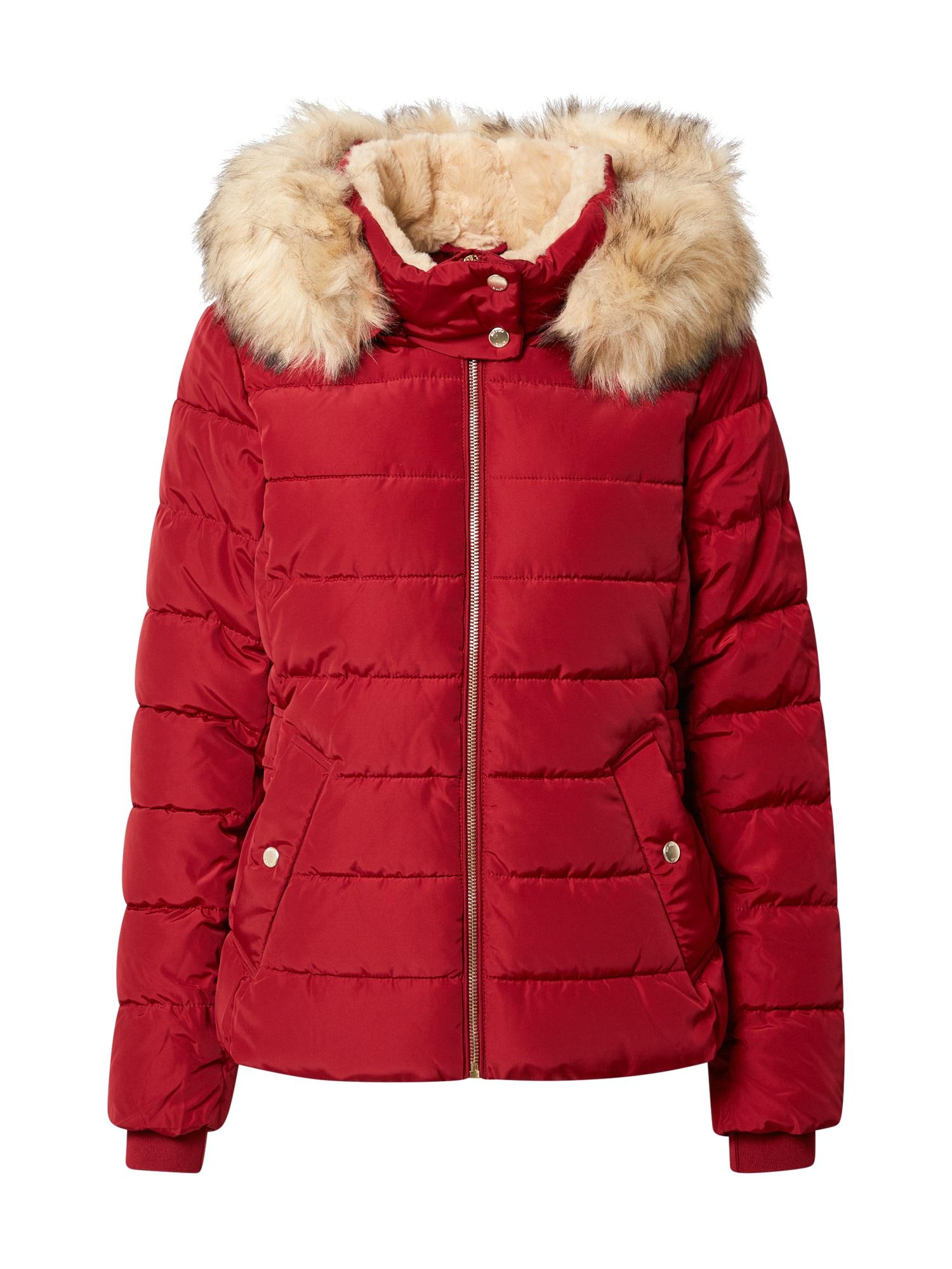 ONLY Zimní bunda 'Camilla'  červená