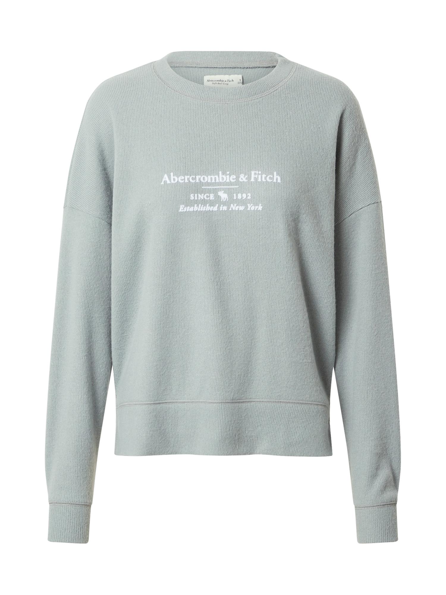 Abercrombie & Fitch Megztinis be užsegimo balta / pastelinė žalia