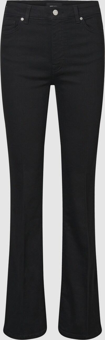 """- Jeans mit ausgestellter Beinform - High Waist - Weiche Baumwollmischfaser - Five-Pocket-Style - Schritthöhe """"34"""": 85 cm in Größe M - Das Model ist 177 cm groß und trägt Größe M  Five-Pocket-Jeans mit ausgestellter Beinform und High Waist. Diese Jeans besteht aus einer weichen Baumwollmischfaser. Trag dazu im Alltag ein Oversize-T-Shirt."""