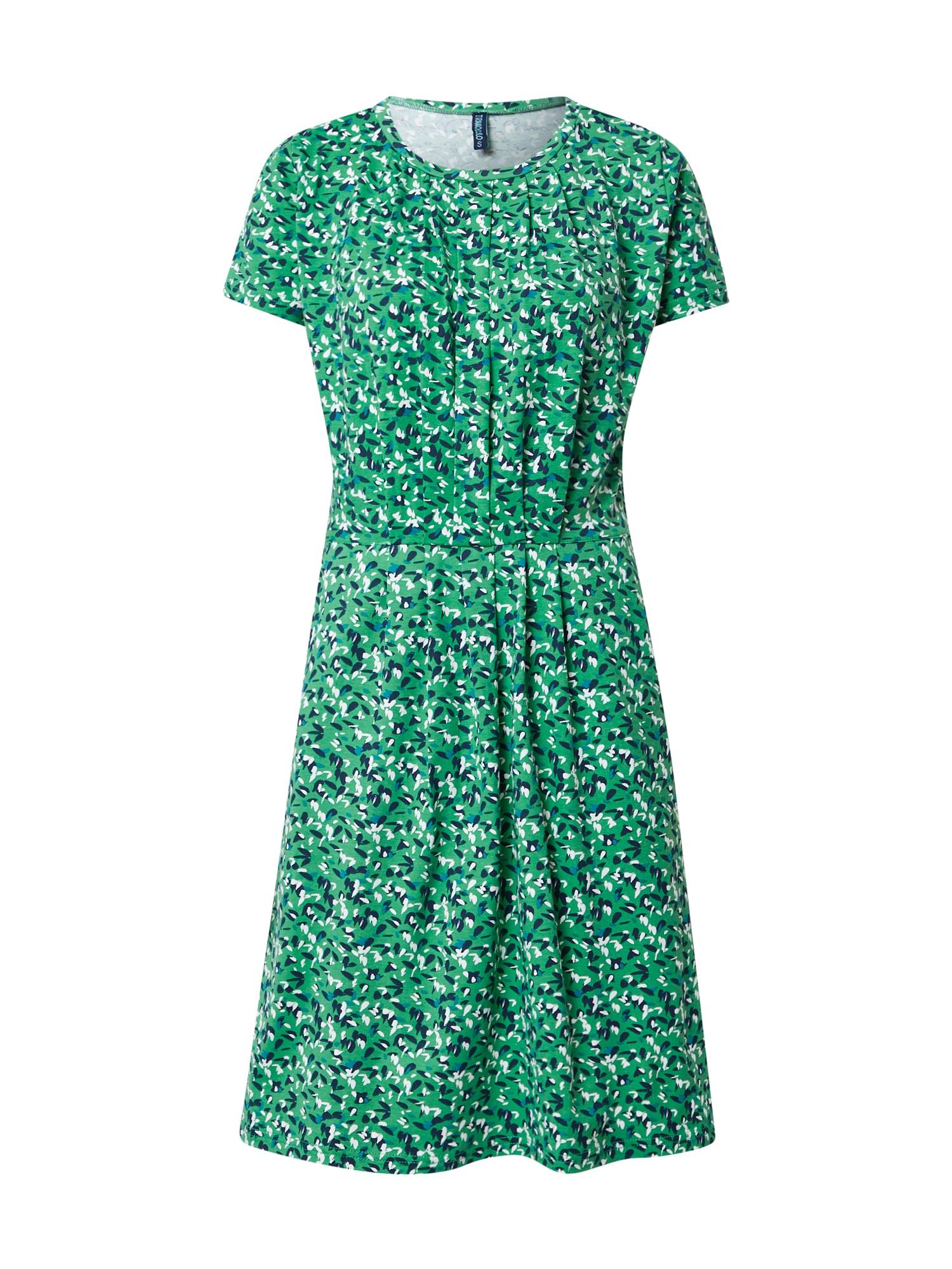 Tranquillo Suknelė dangaus žydra / tamsiai mėlyna / balta / šviesiai žalia