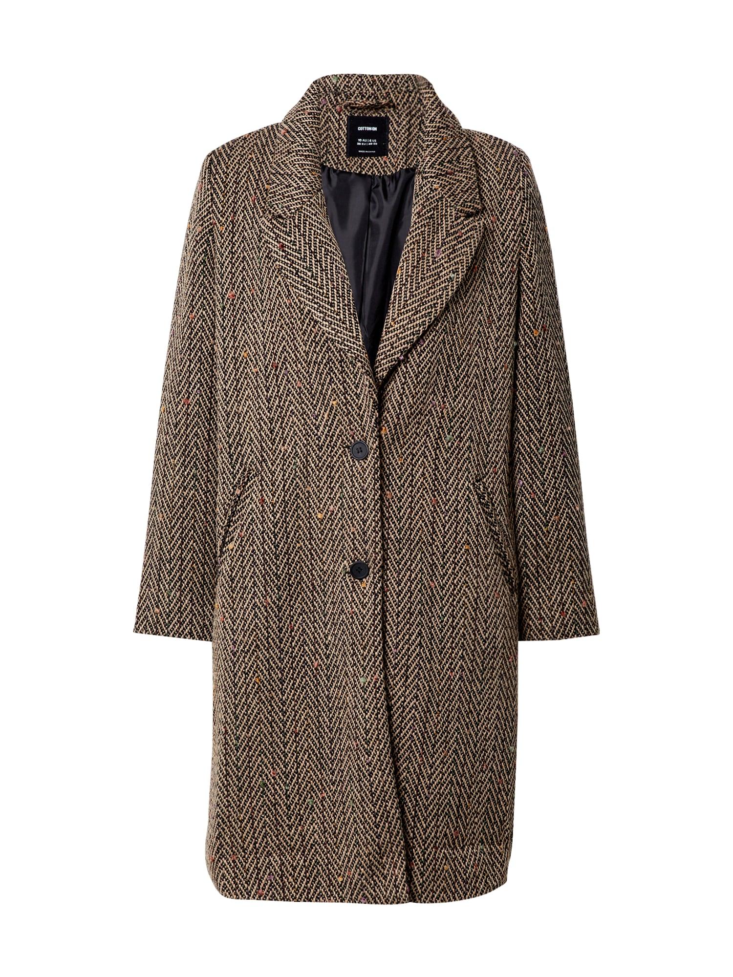 Cotton On Demisezoninis paltas smėlio spalva / juoda / oranžinė / rožinė / purpurinė