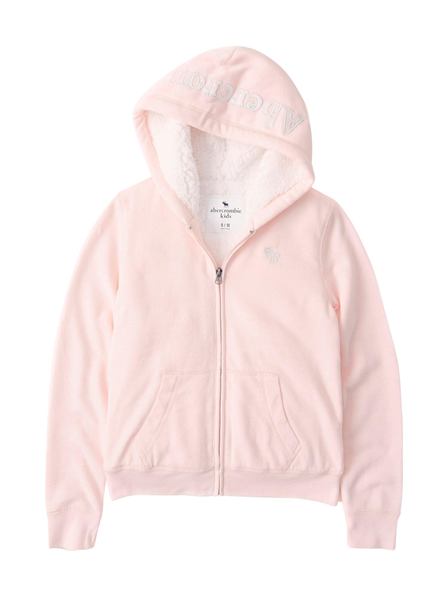 Abercrombie & Fitch Džemperis rožių spalva / balta