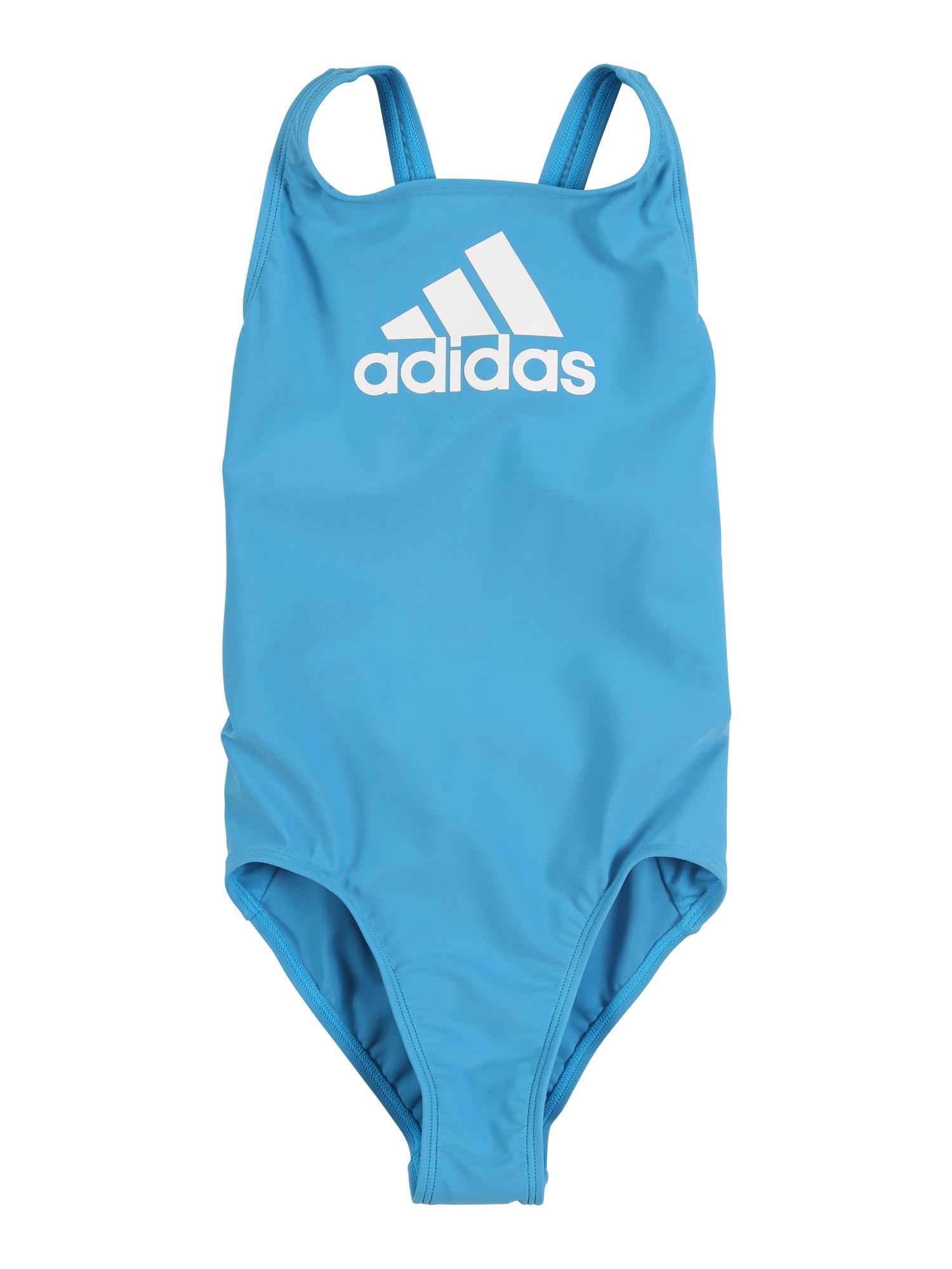 ADIDAS PERFORMANCE Sportinis maudymosi kostiumėlis šviesiai mėlyna