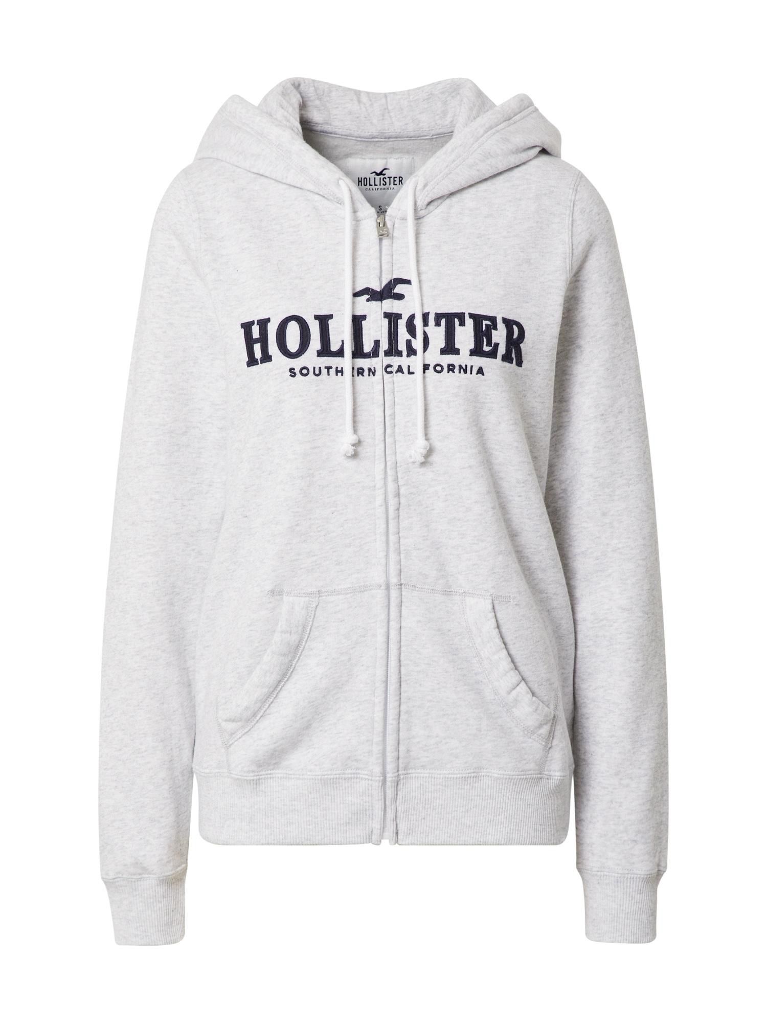 HOLLISTER Džemperis margai pilka / tamsiai mėlyna