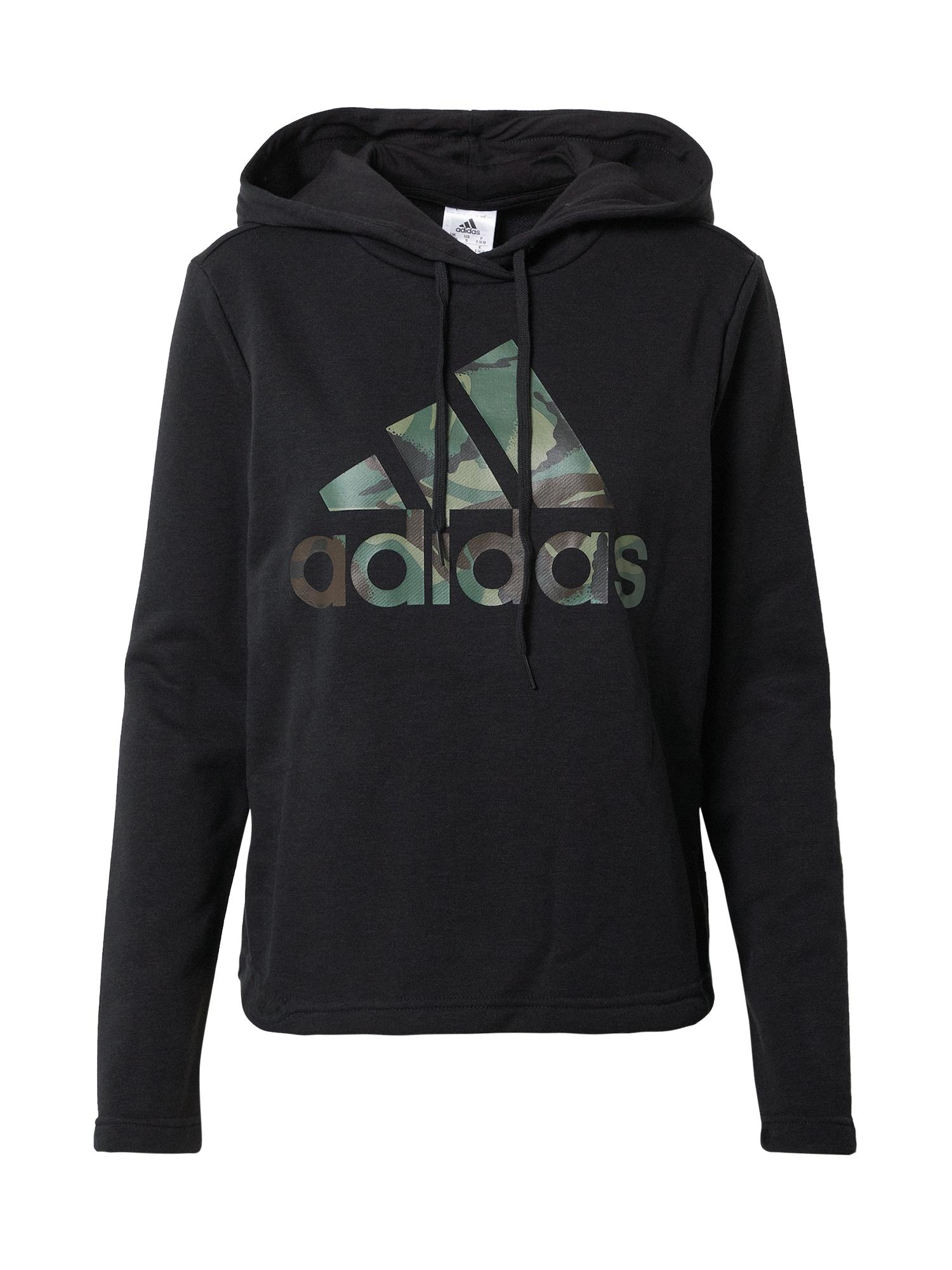 ADIDAS PERFORMANCE Sportinio tipo megztinis juoda / rusvai žalia / ruda / tamsiai pilka
