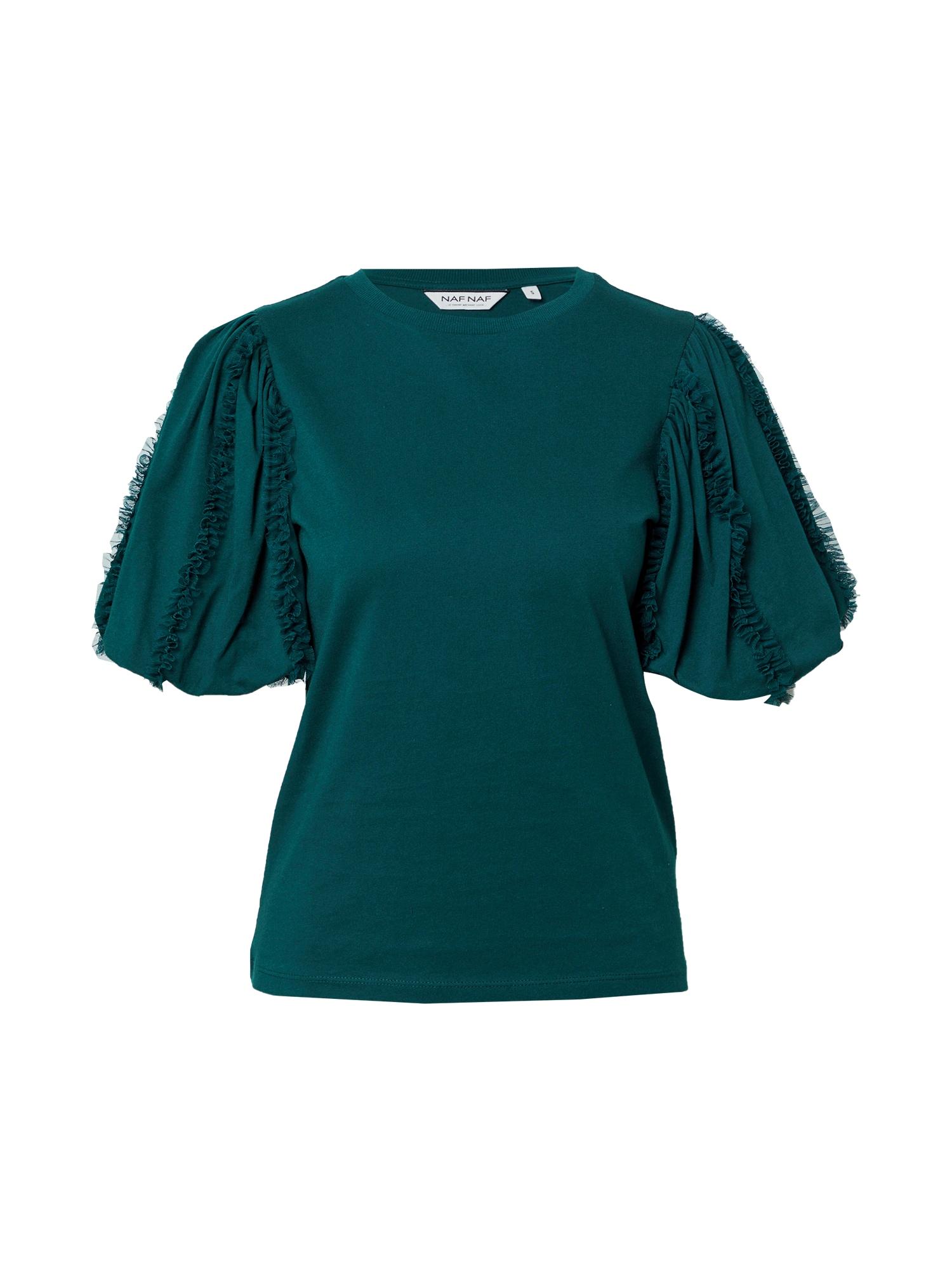NAF NAF Marškinėliai smaragdinė spalva