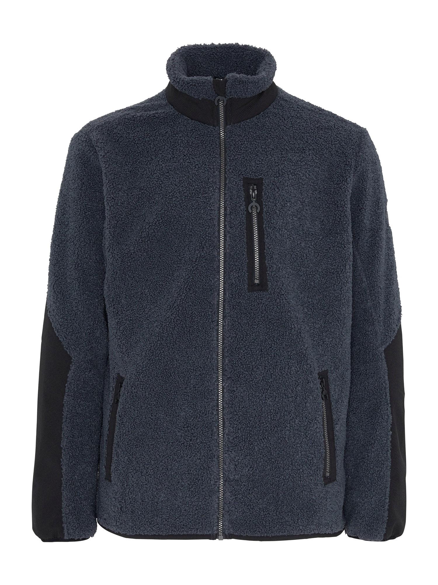 CHIEMSEE Outdoorová bunda 'CHO OYU'  tmavě šedá / černá