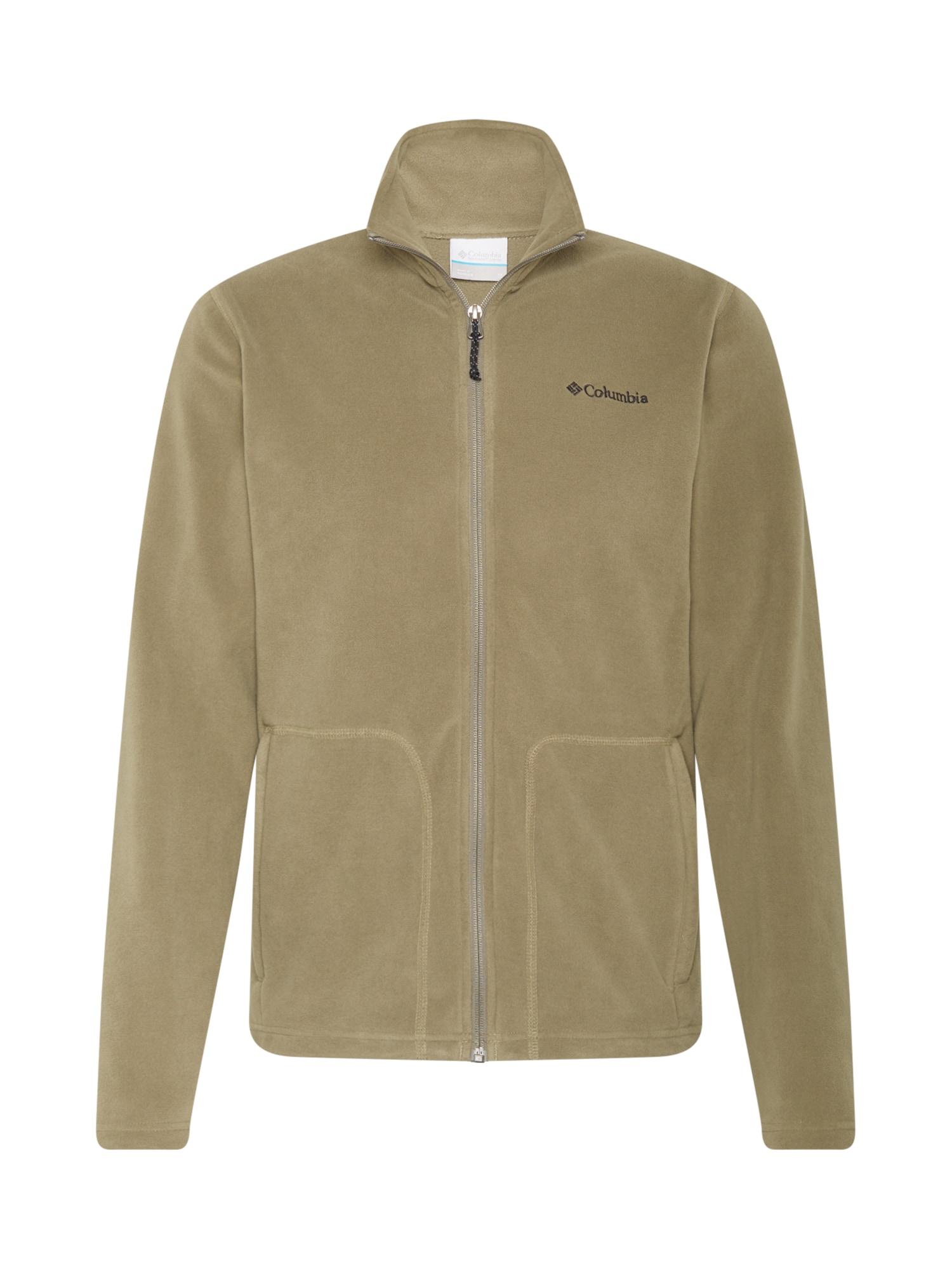 COLUMBIA Flisinis džemperis alyvuogių spalva / juoda