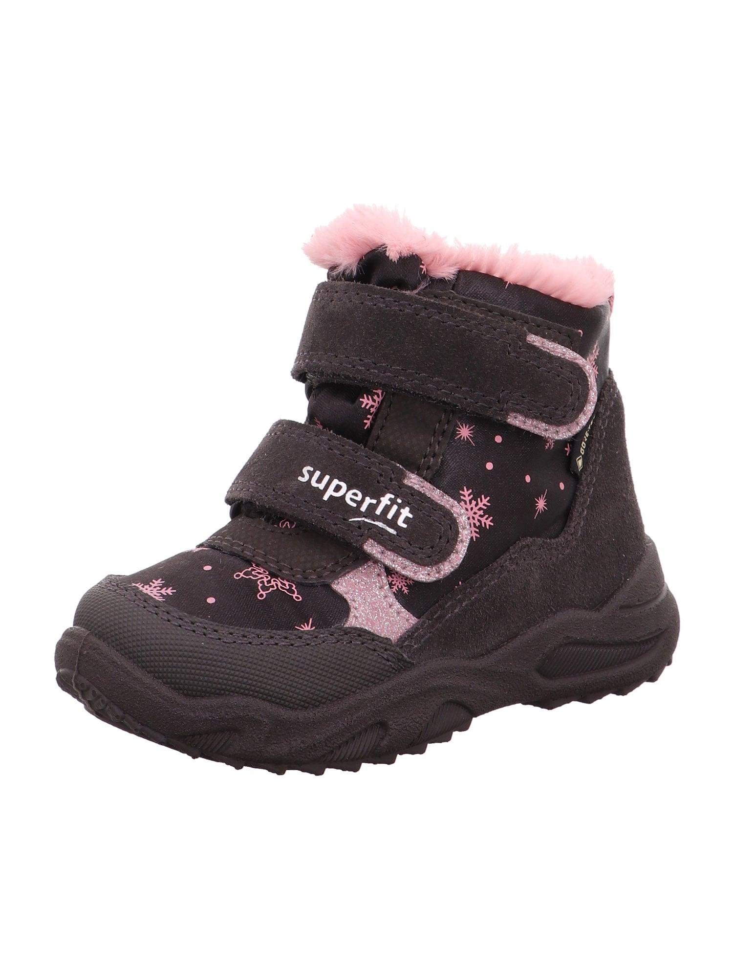 SUPERFIT Sniego batai 'Glacier' kaštoninė spalva / šviesiai rožinė