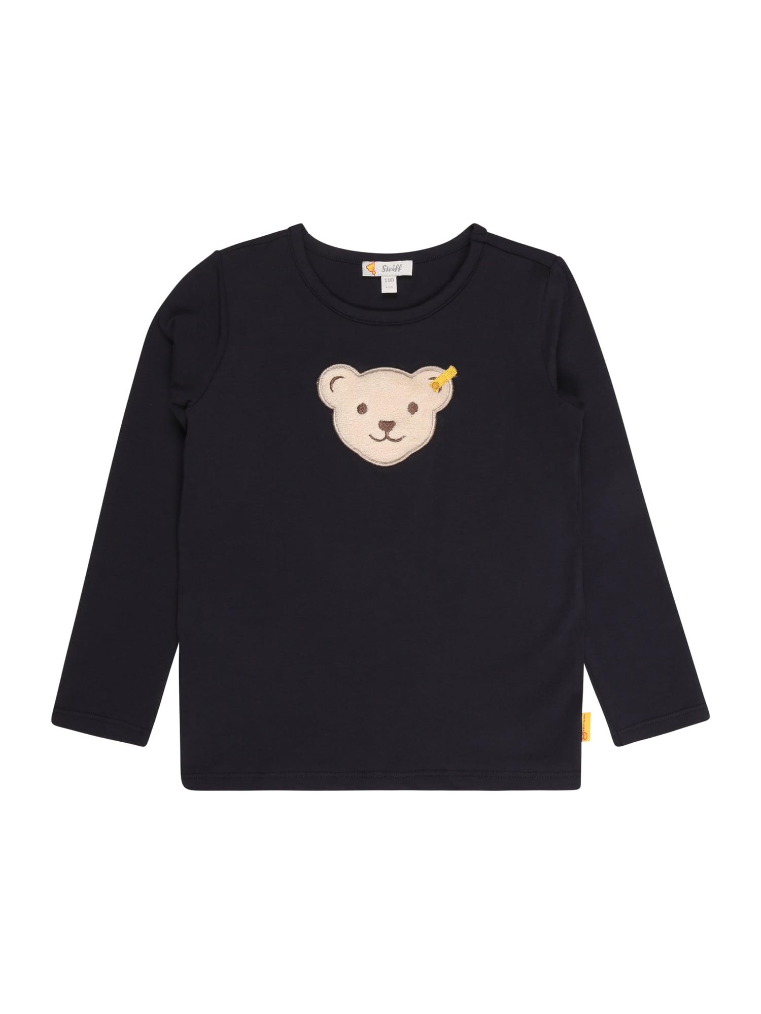Steiff Collection Marškinėliai tamsiai mėlyna / smėlio spalva / ruda