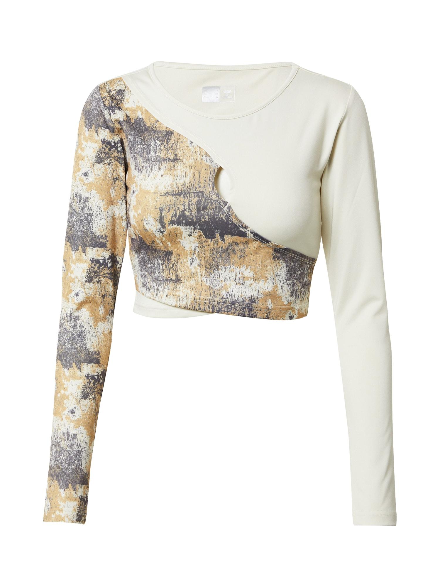 Hummel Sportiniai marškinėliai smėlio / pilka