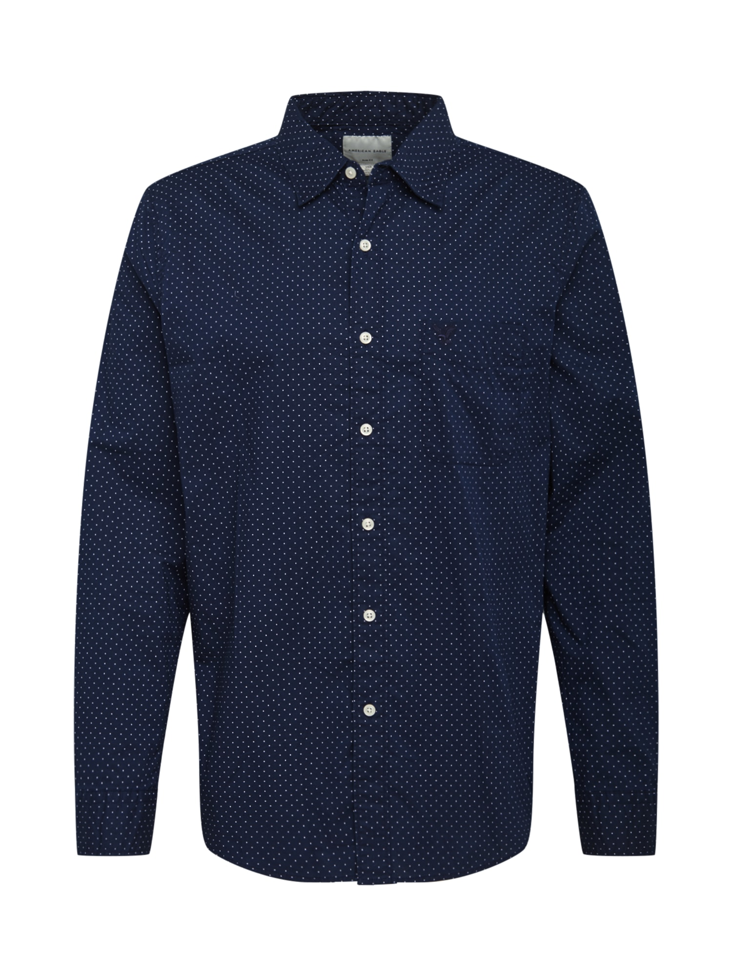 American Eagle Marškiniai mėlyna / balta