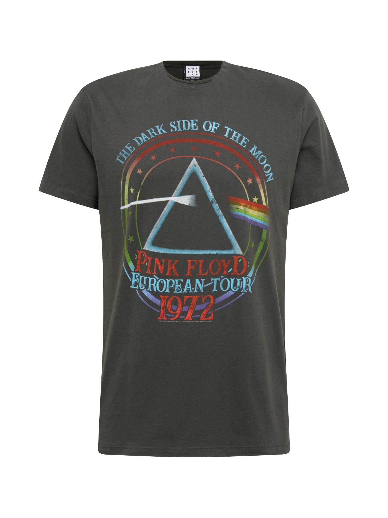 AMPLIFIED Marškinėliai 'PINK FLOYD TOUR 72' tamsiai pilka / mišrios spalvos