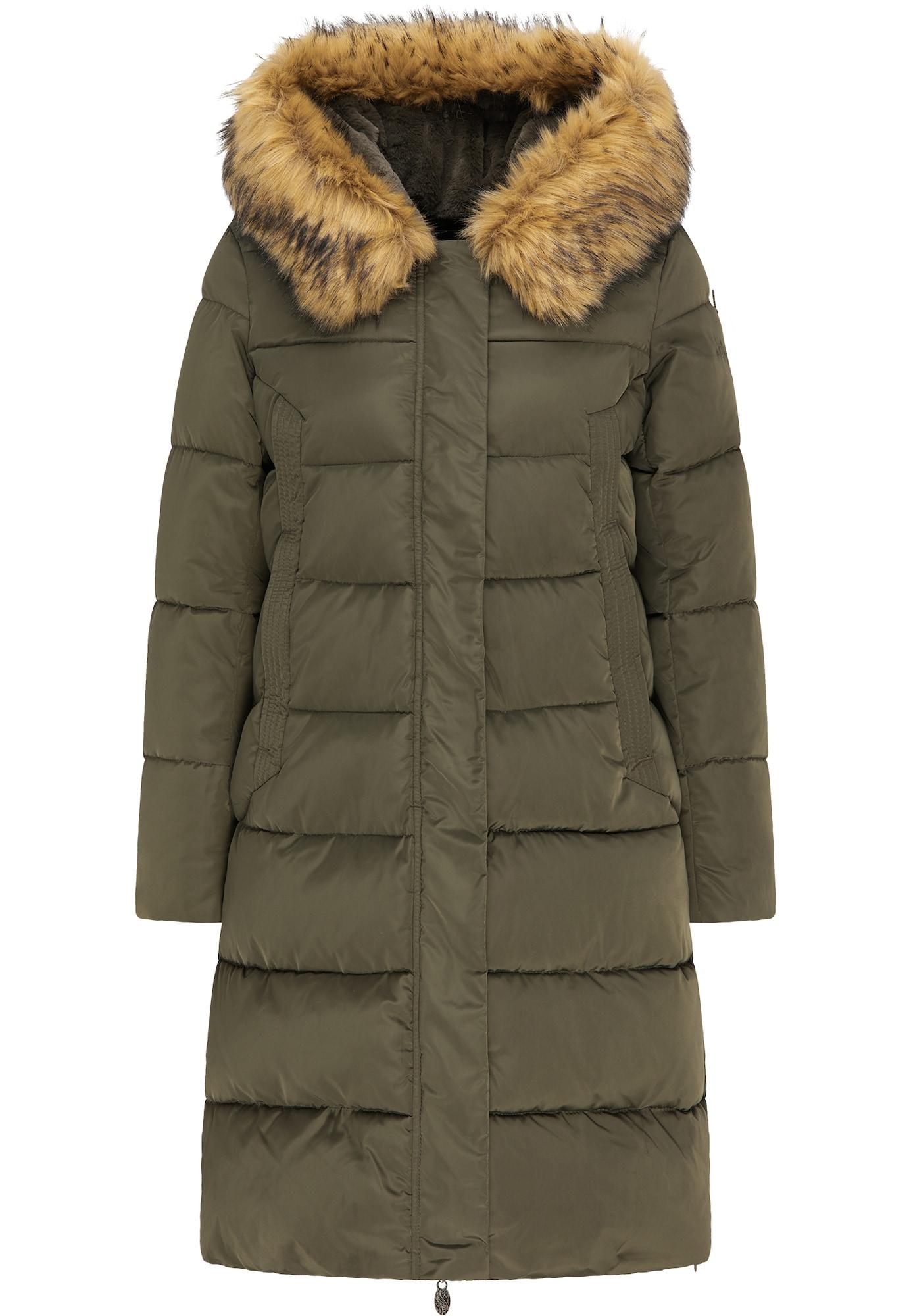 DreiMaster Klassik Žieminis paltas alyvuogių spalva