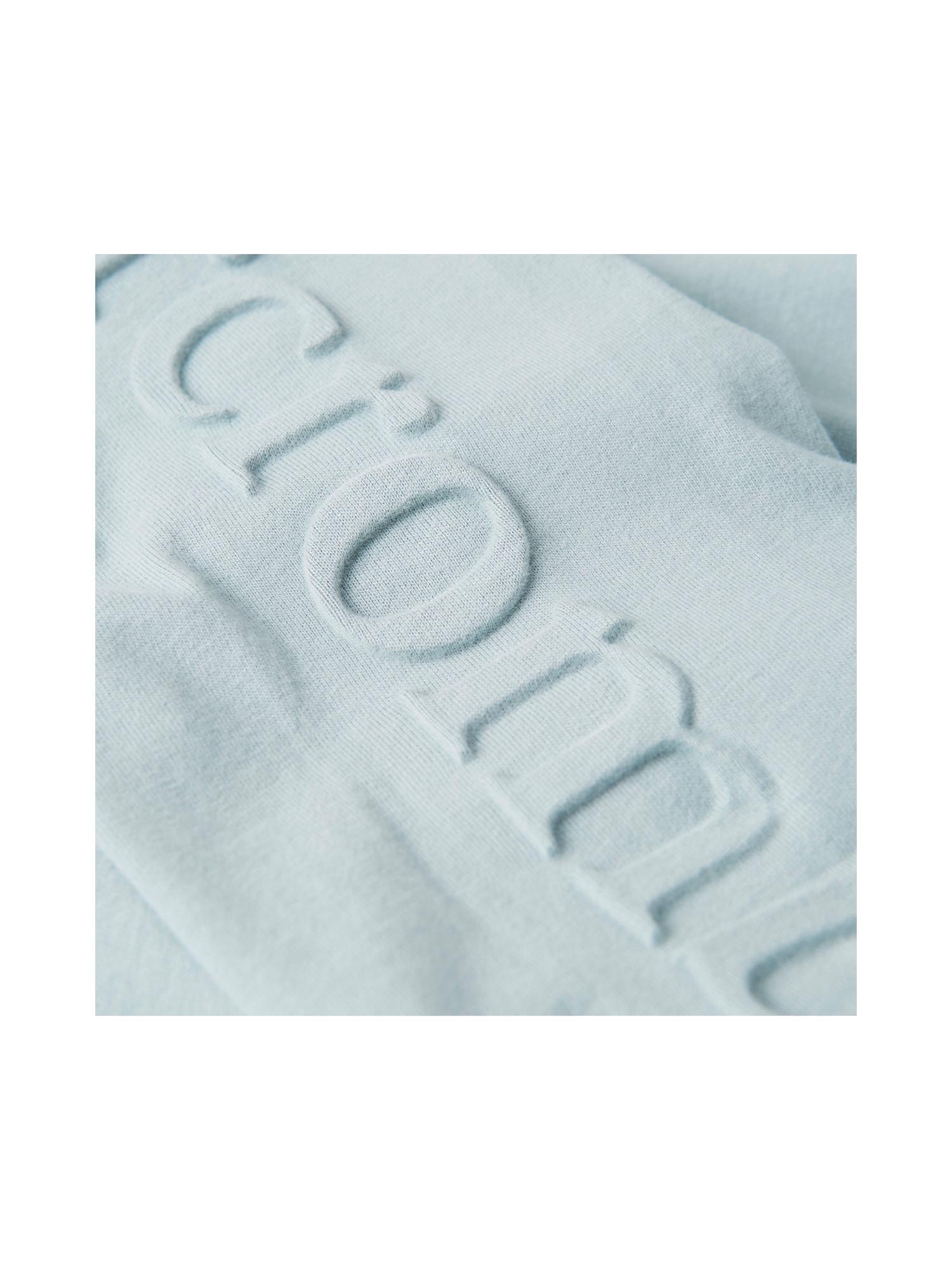 Abercrombie & Fitch T-shirt 'LS EMBOSSS UPPER TIER'  ljusblå