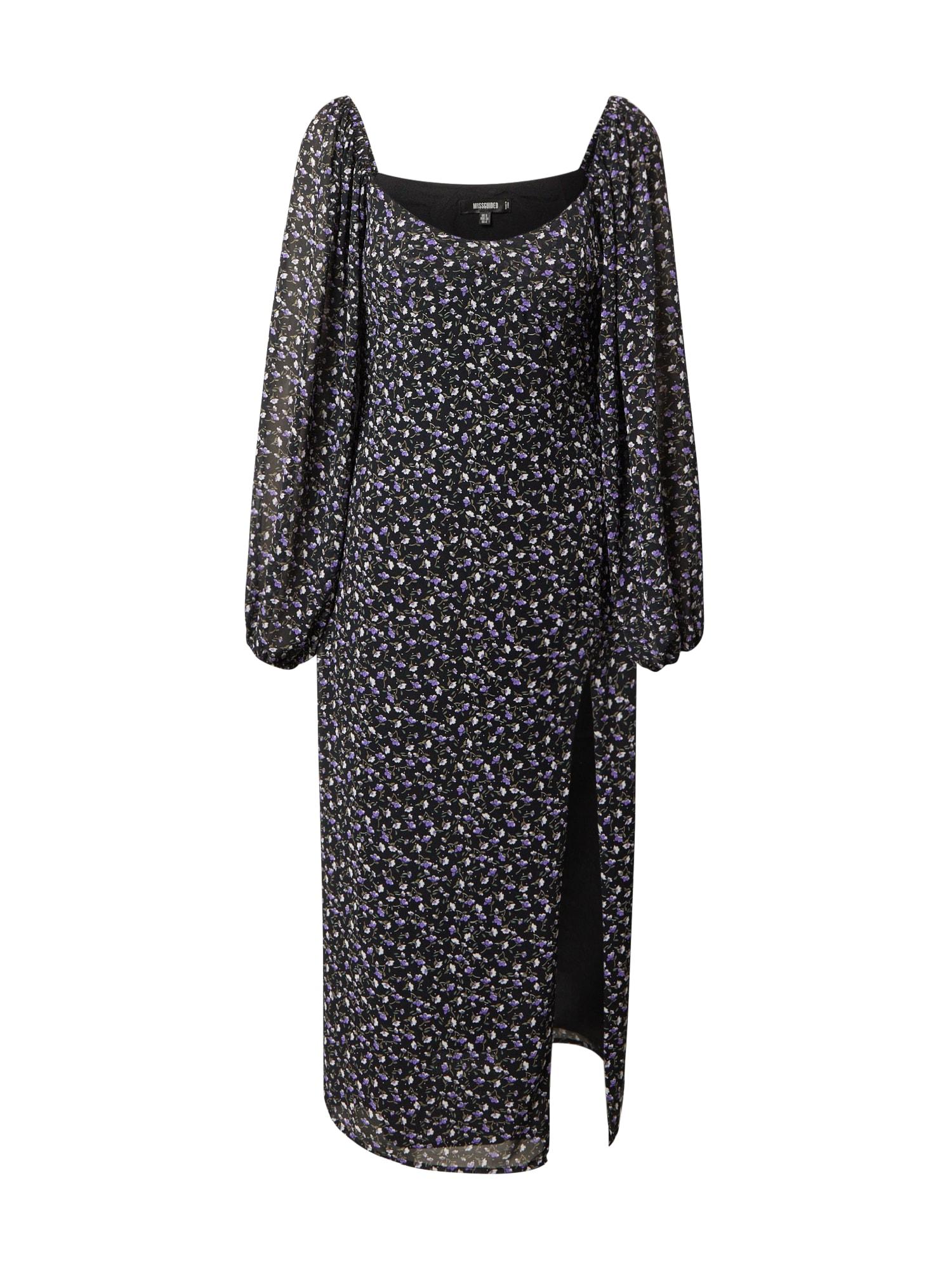 Missguided Suknelė purpurinė / juoda / smėlio / pilka