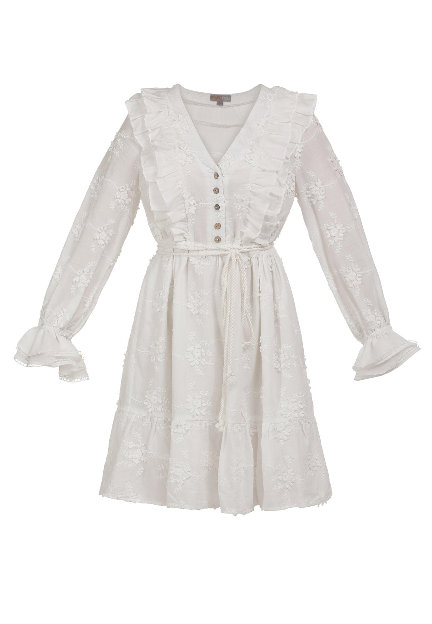 myMo NOW Vasarinė suknelė balta