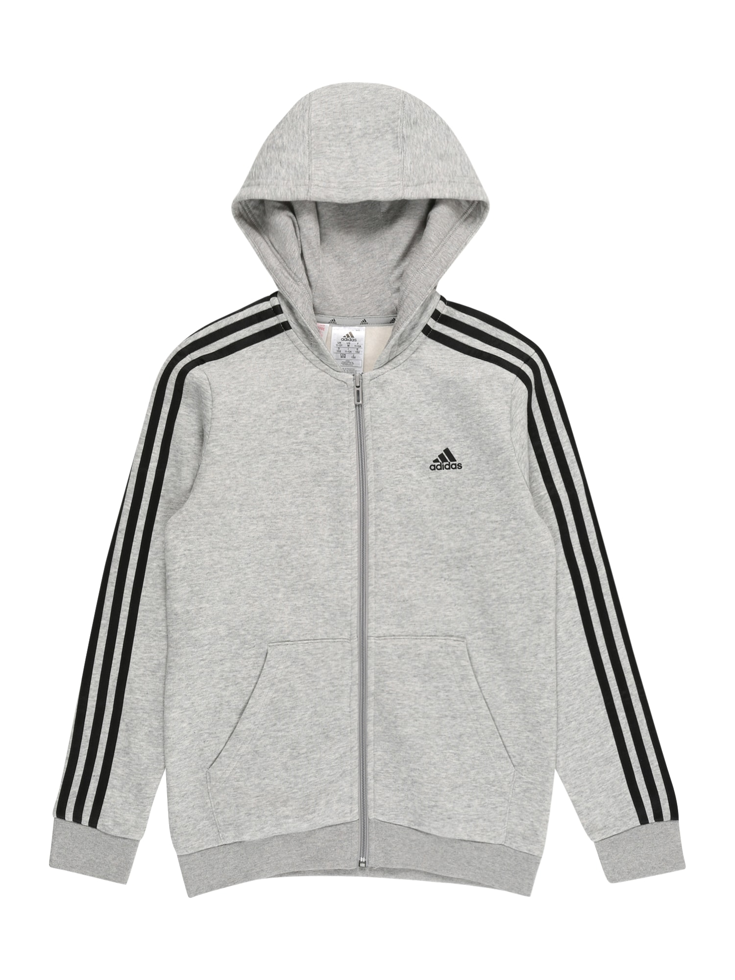 ADIDAS PERFORMANCE Sportinis džemperis pilka / juoda