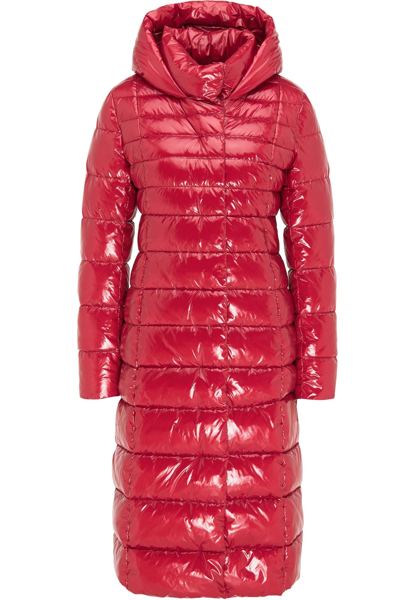 faina Žieminis paltas raudona
