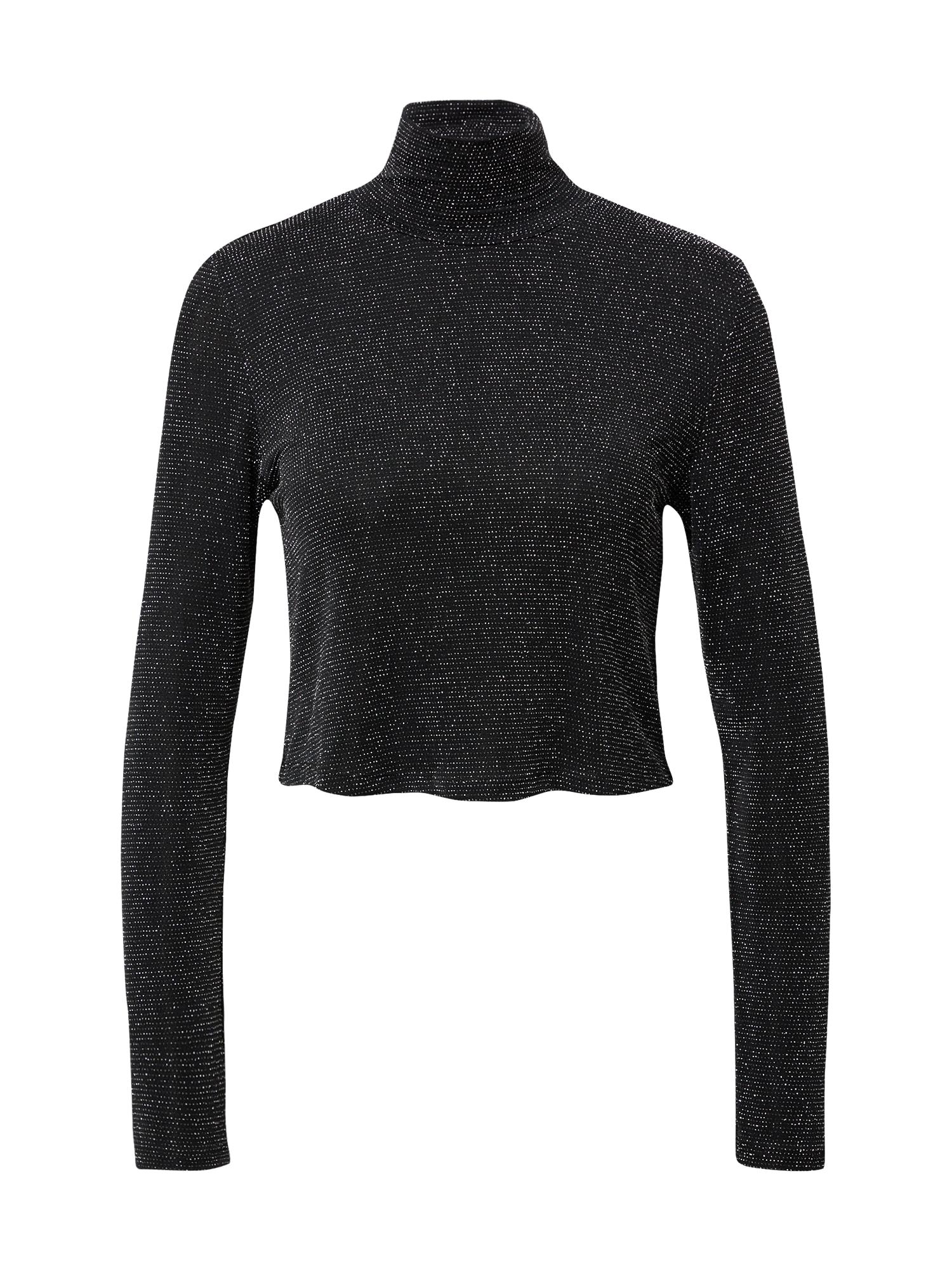 KENDALL + KYLIE Marškinėliai sidabro pilka / juoda