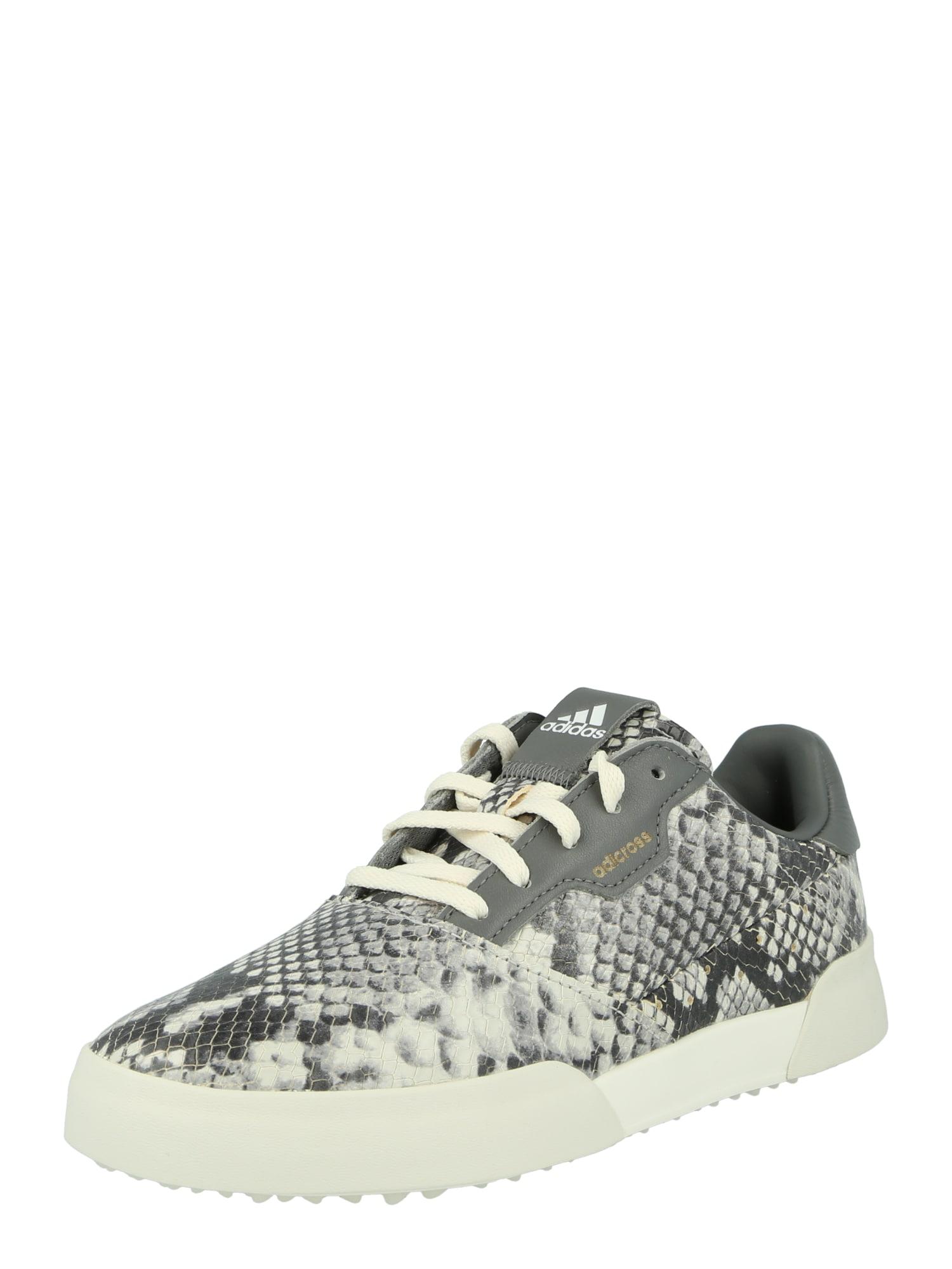 adidas Golf Sportiniai batai 'Retro' balta / pilka / tamsiai pilka