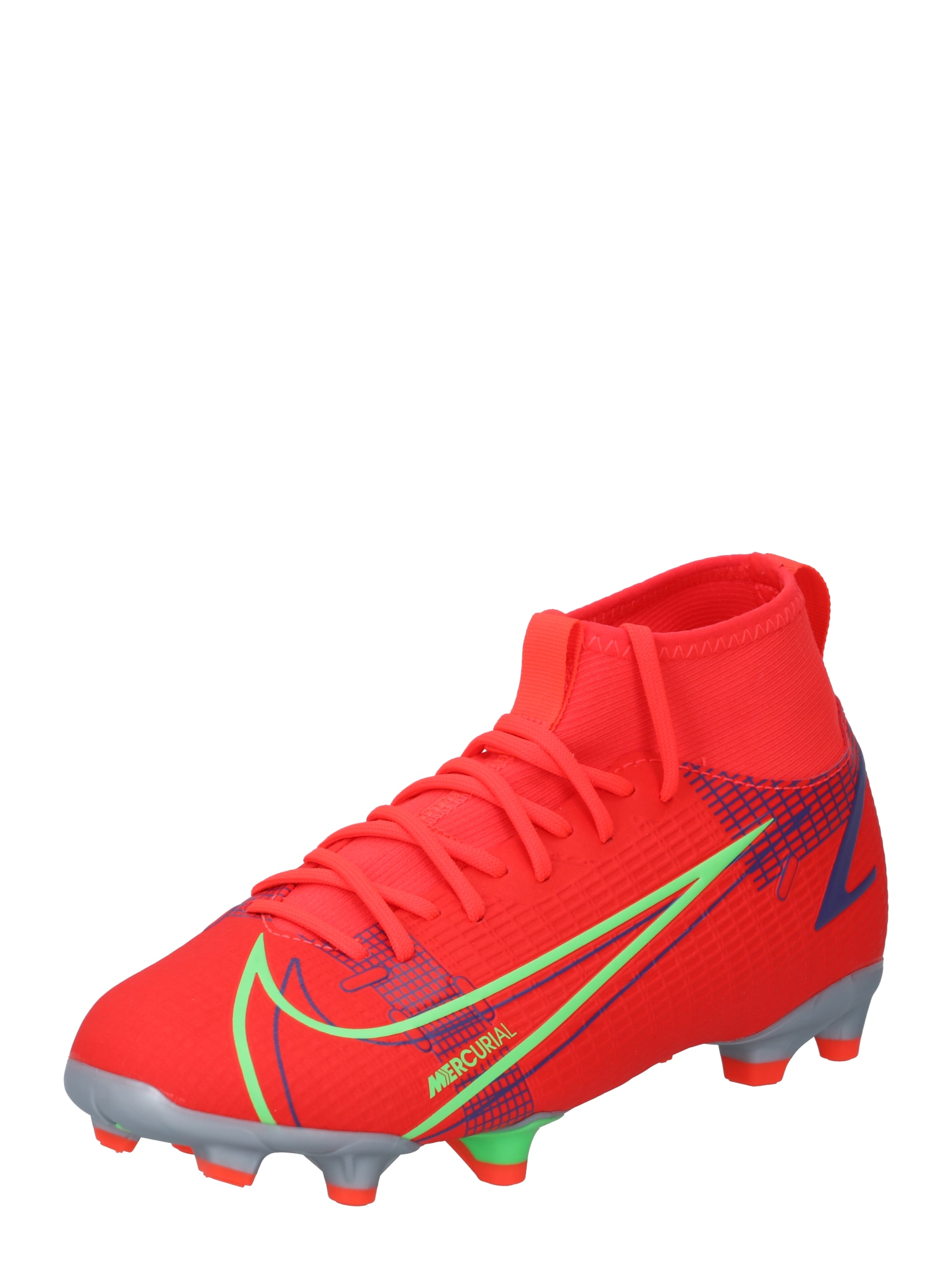 NIKE Sportiniai batai 'Mercurial S. Academy' raudona / tamsiai mėlyna / obuolių spalva