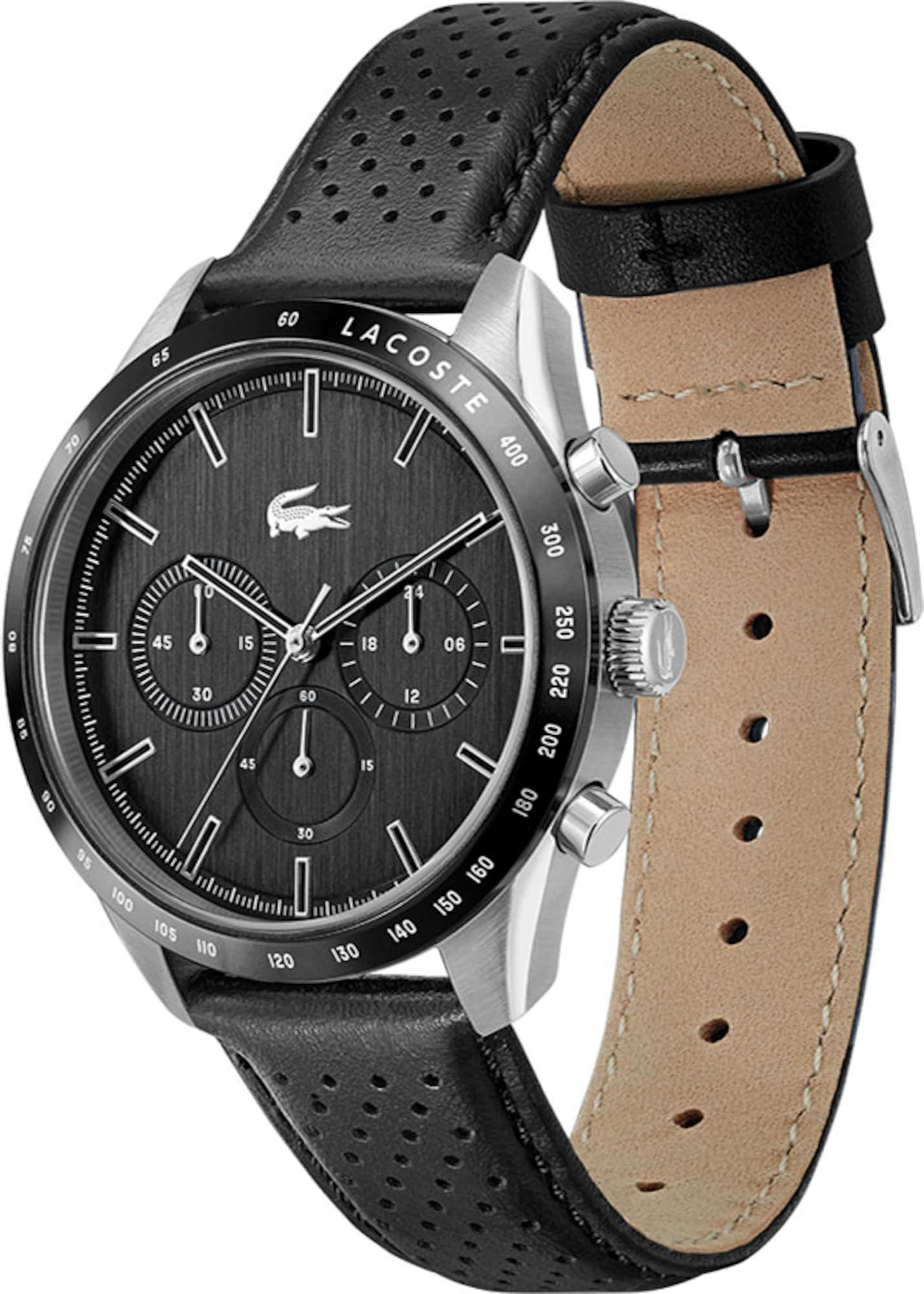 LACOSTE Analoginis (įprasto dizaino) laikrodis juoda / sidabrinė