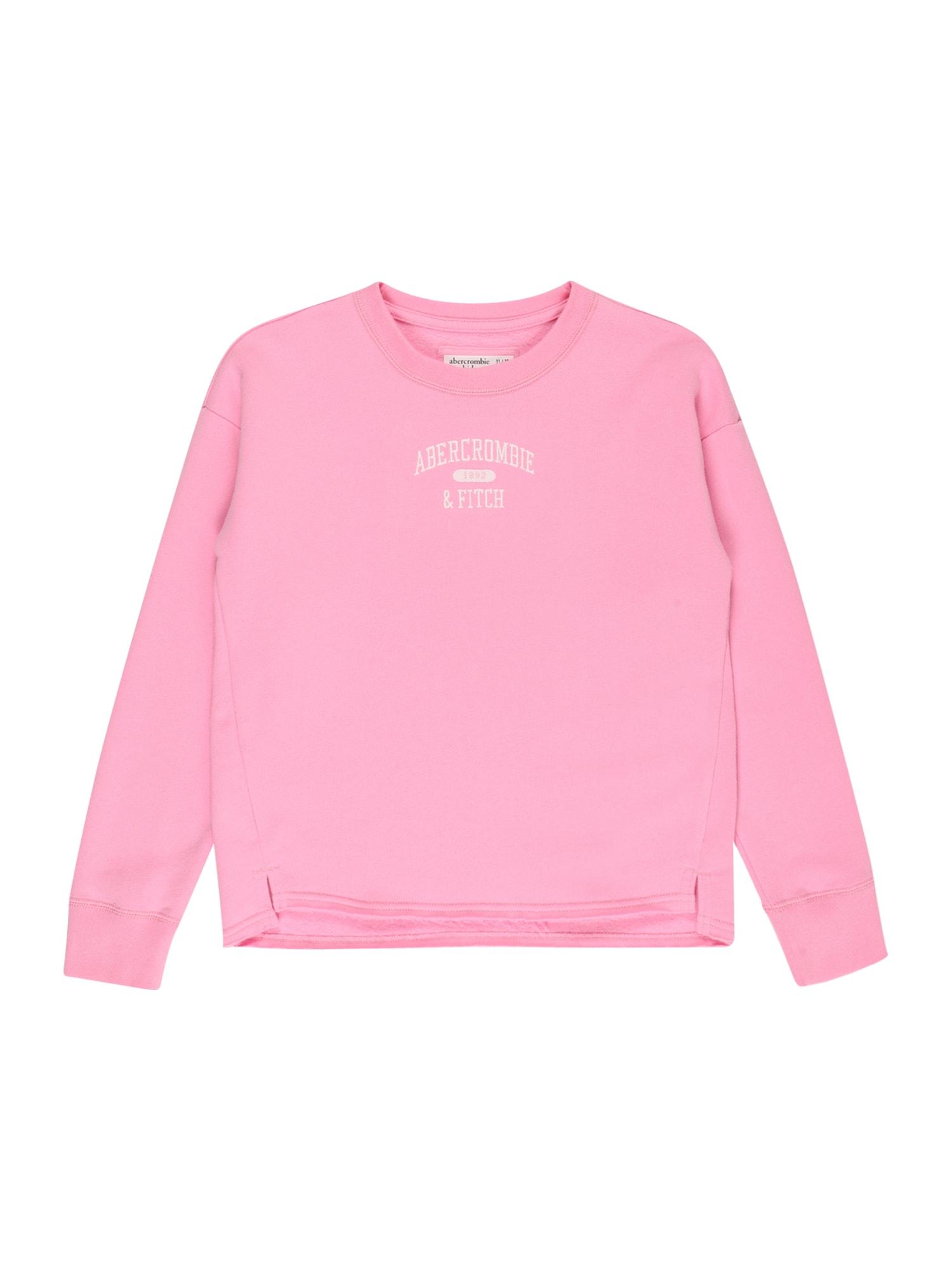 Abercrombie & Fitch Megztinis be užsegimo rožinė / balta