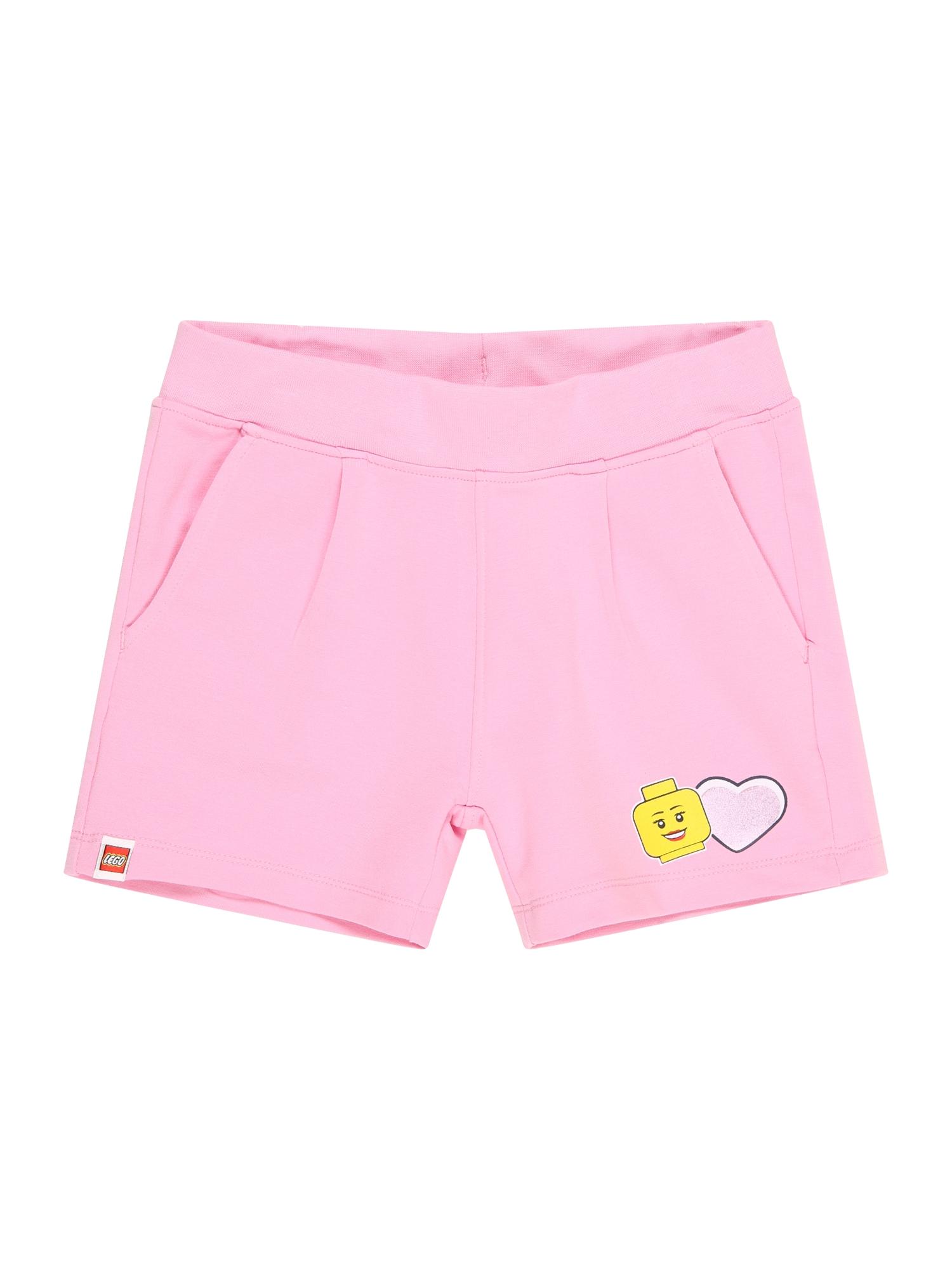 LEGO WEAR Kelnės šviesiai rožinė / geltona / balta