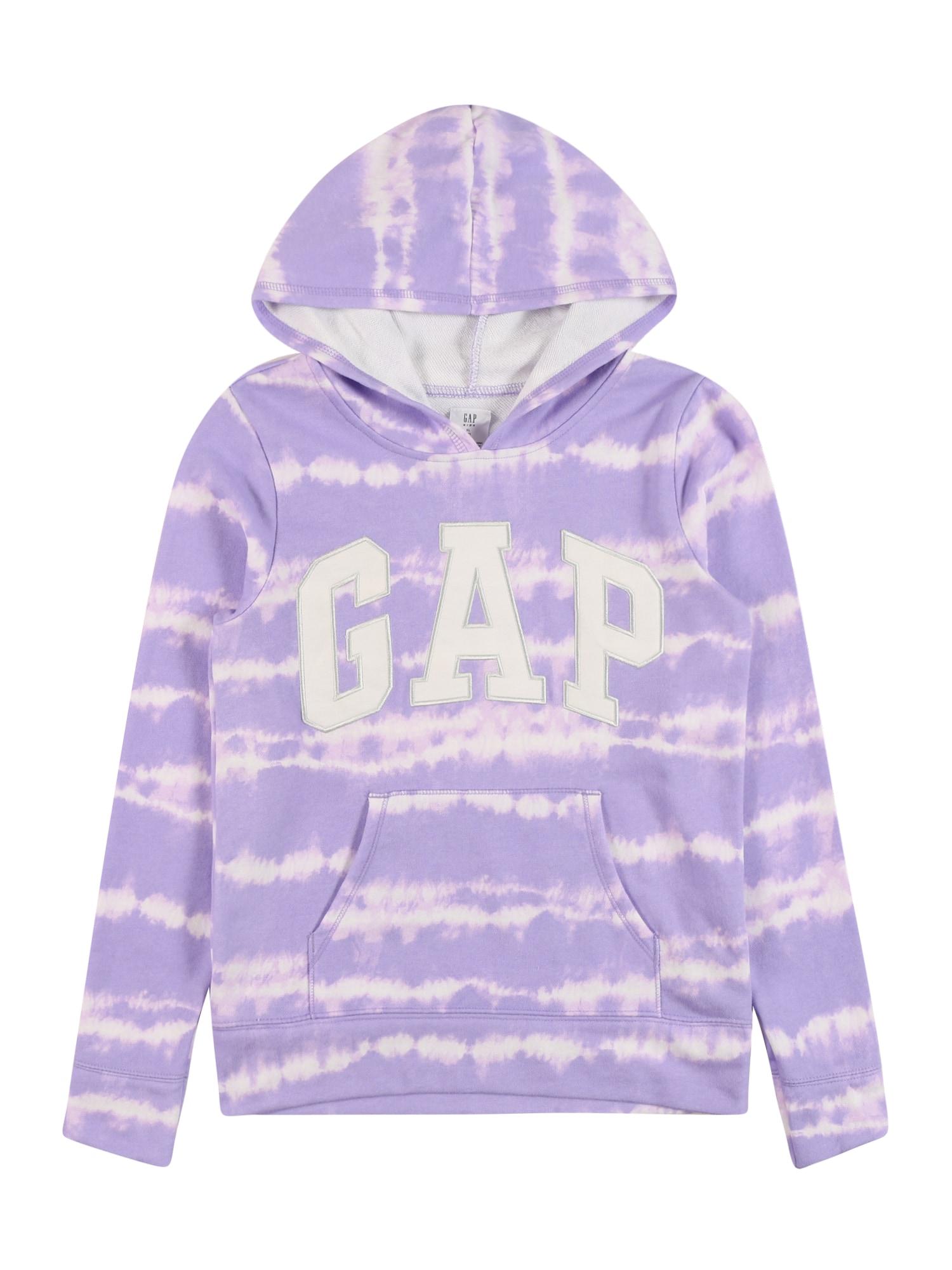 GAP Megztinis be užsegimo purpurinė / rausvai violetinė spalva / balta