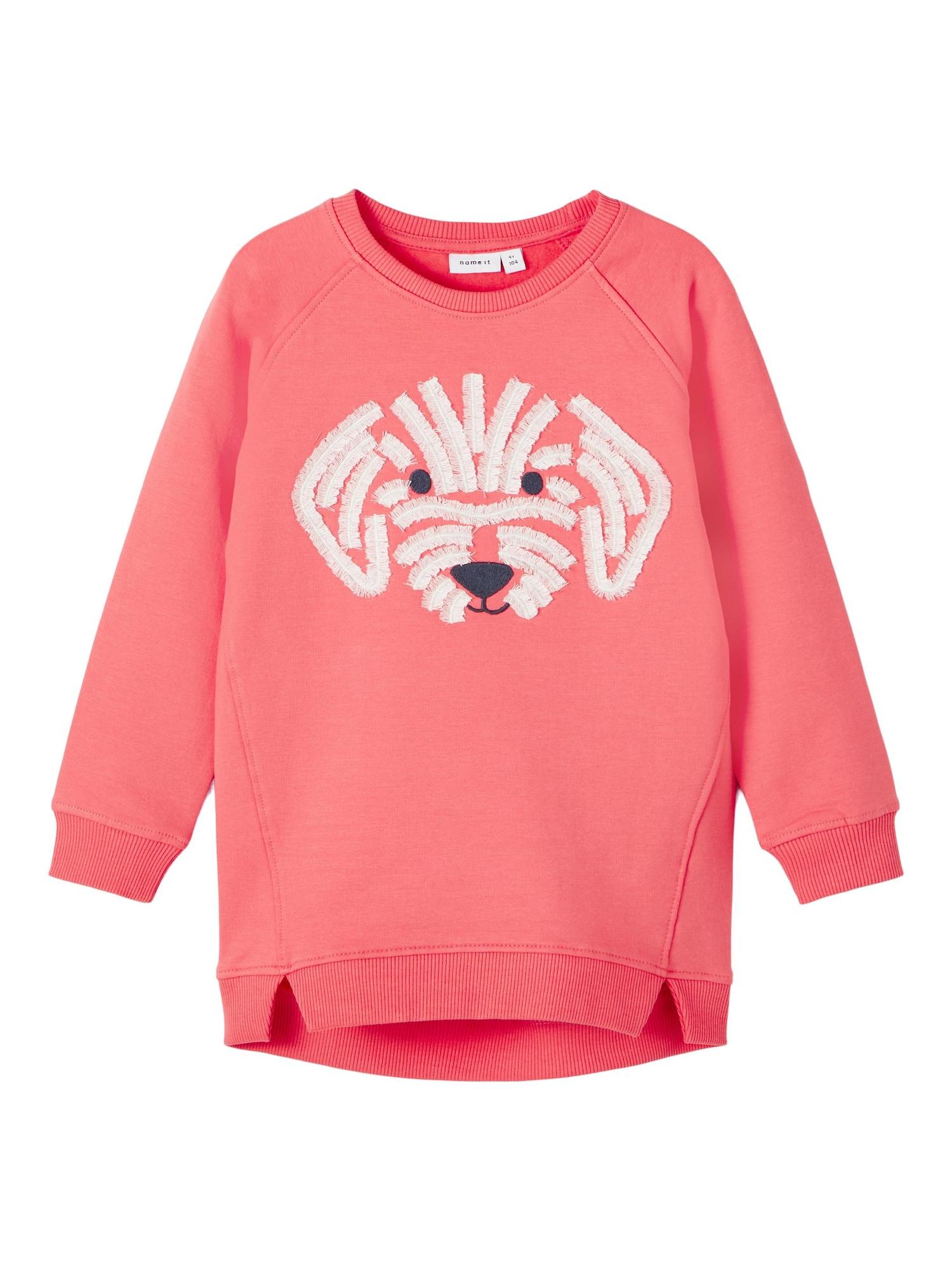 NAME IT Megztinis be užsegimo balta / juoda / rožinė