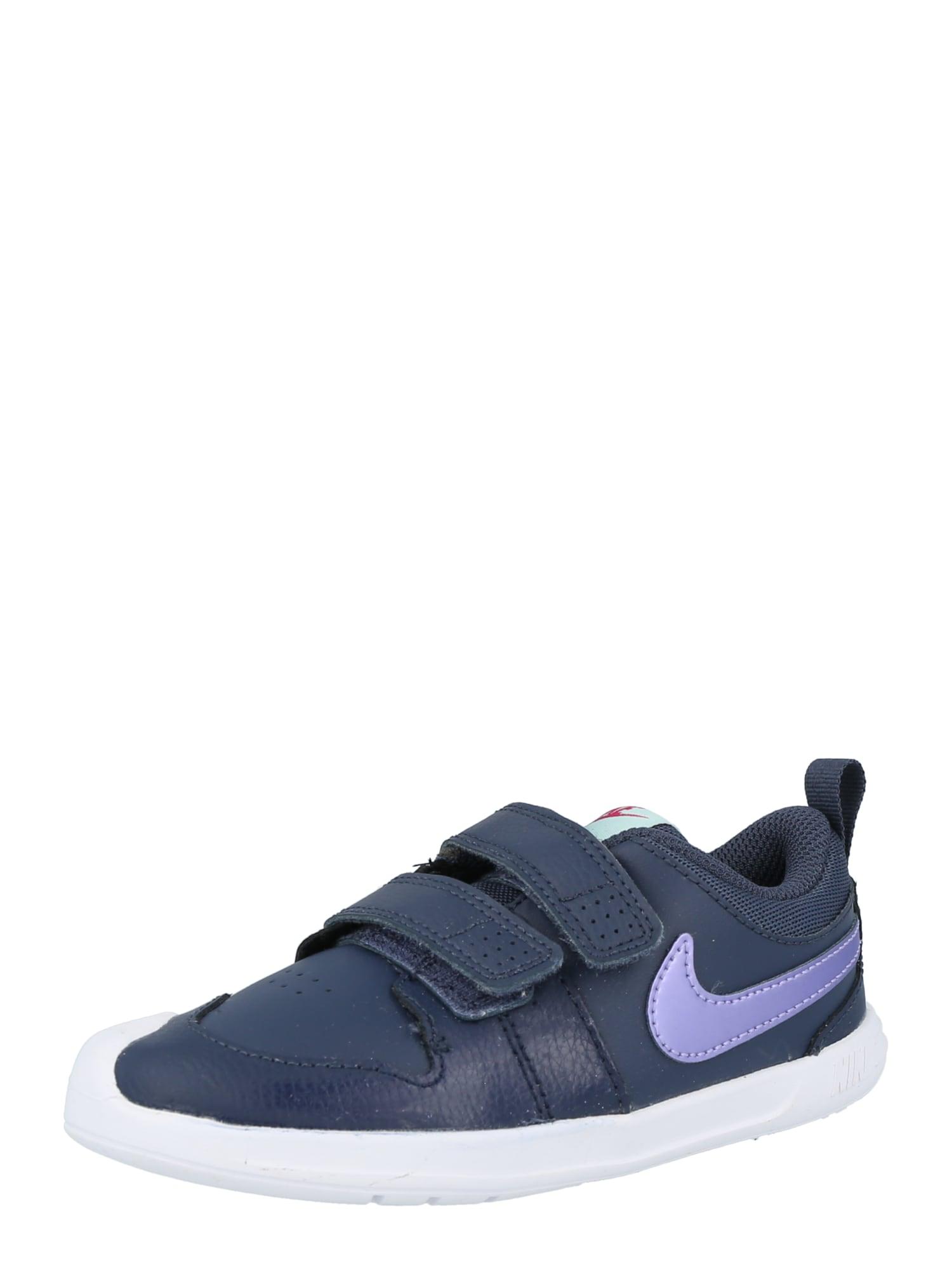 NIKE Sportiniai batai 'Pico 5' tamsiai mėlyna jūros spalva / rausvai violetinė spalva / balta