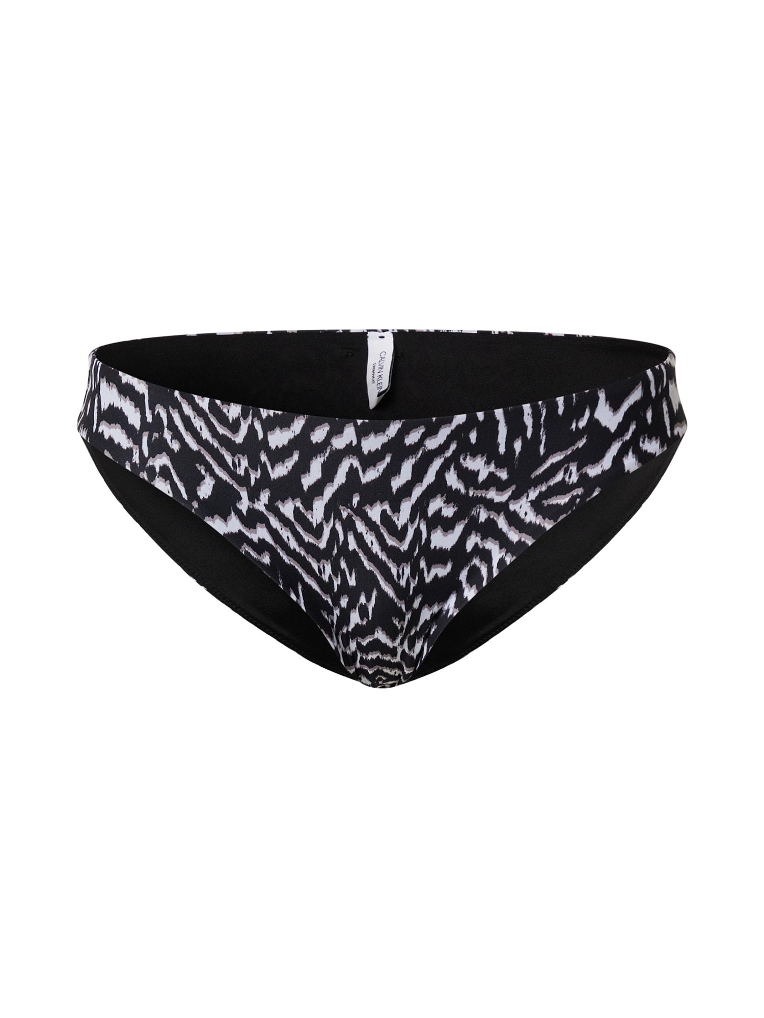 Calvin Klein Swimwear Spodní díl plavek  černá / bílá / režná