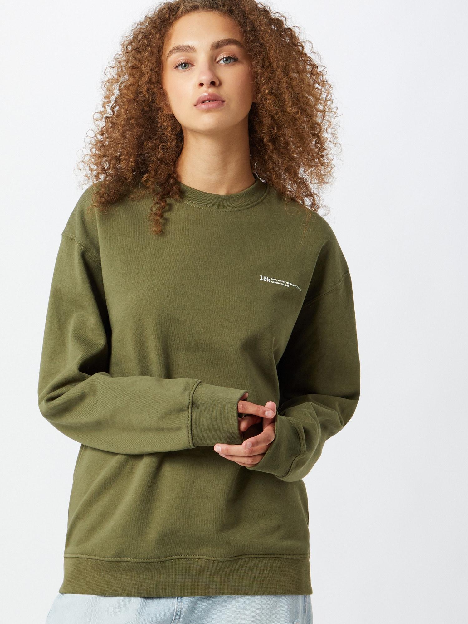 10k Sweatshirt  khaki / vit