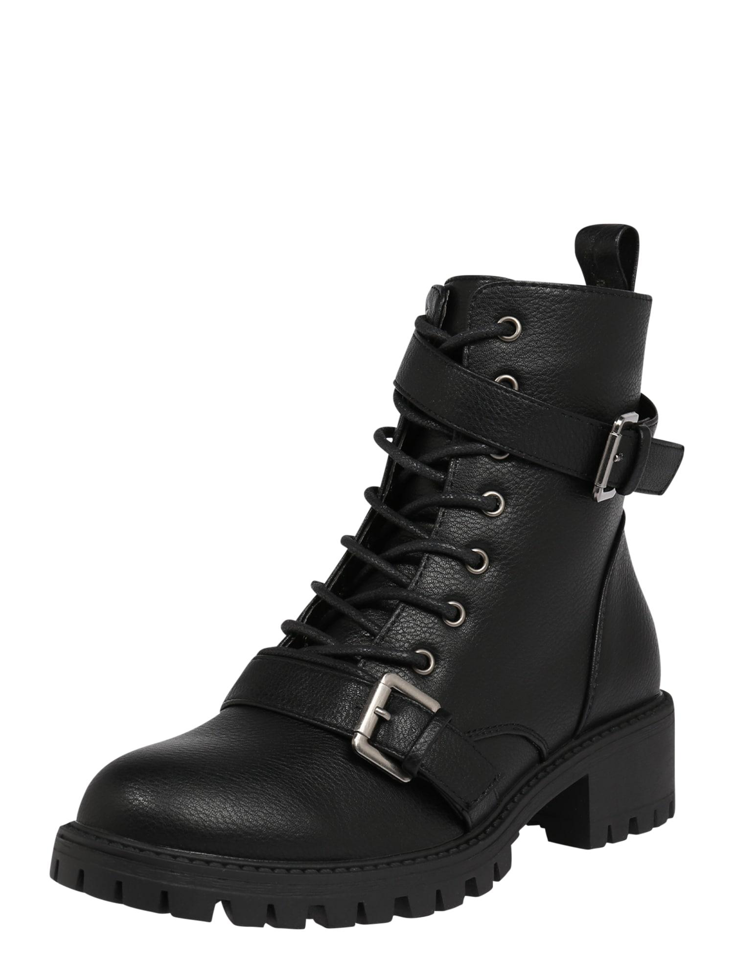 rubi Šněrovací boty  černá