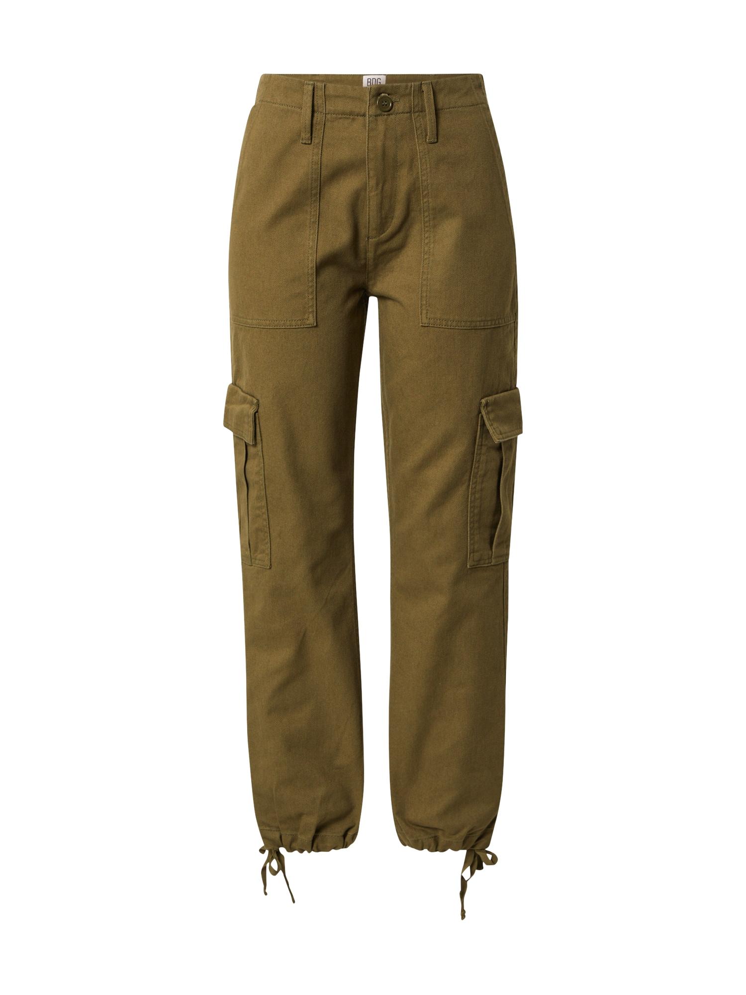 BDG Urban Outfitters Laisvo stiliaus kelnės rusvai žalia