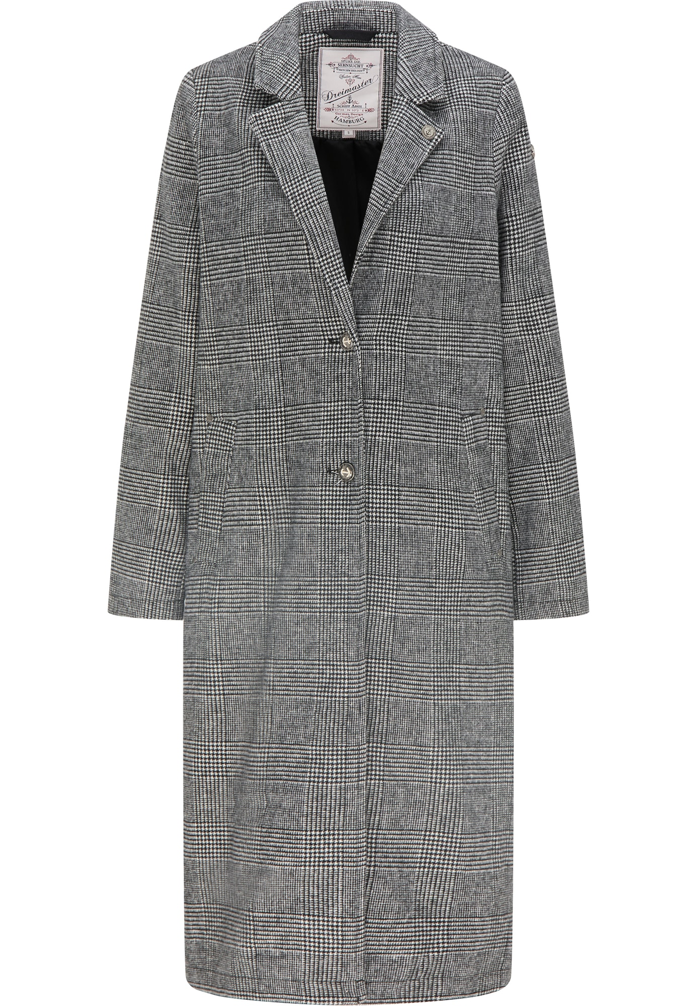 DreiMaster Vintage Demisezoninis paltas juoda / balta