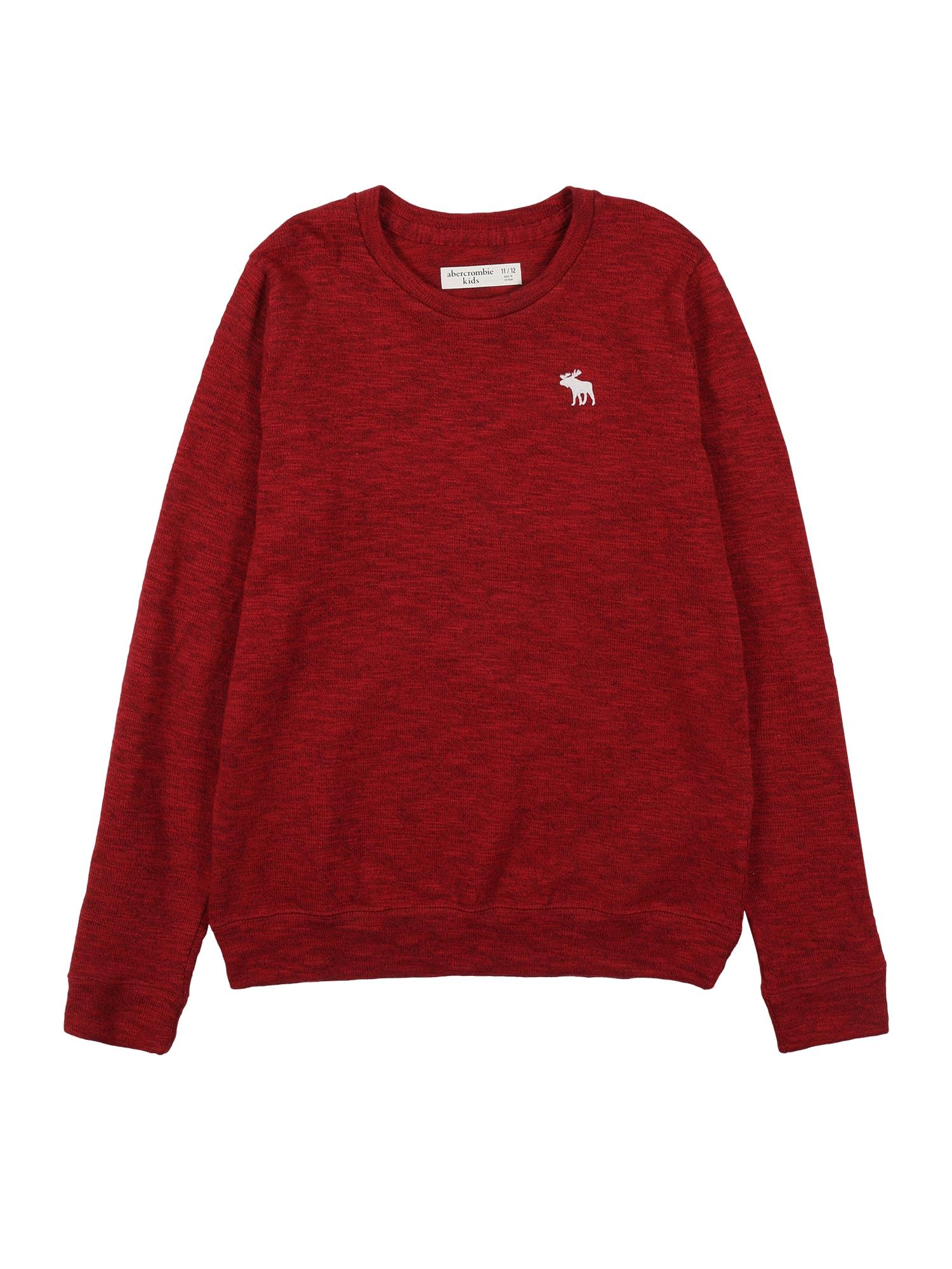 Abercrombie & Fitch Megztinis raudona / balta / tamsiai raudona